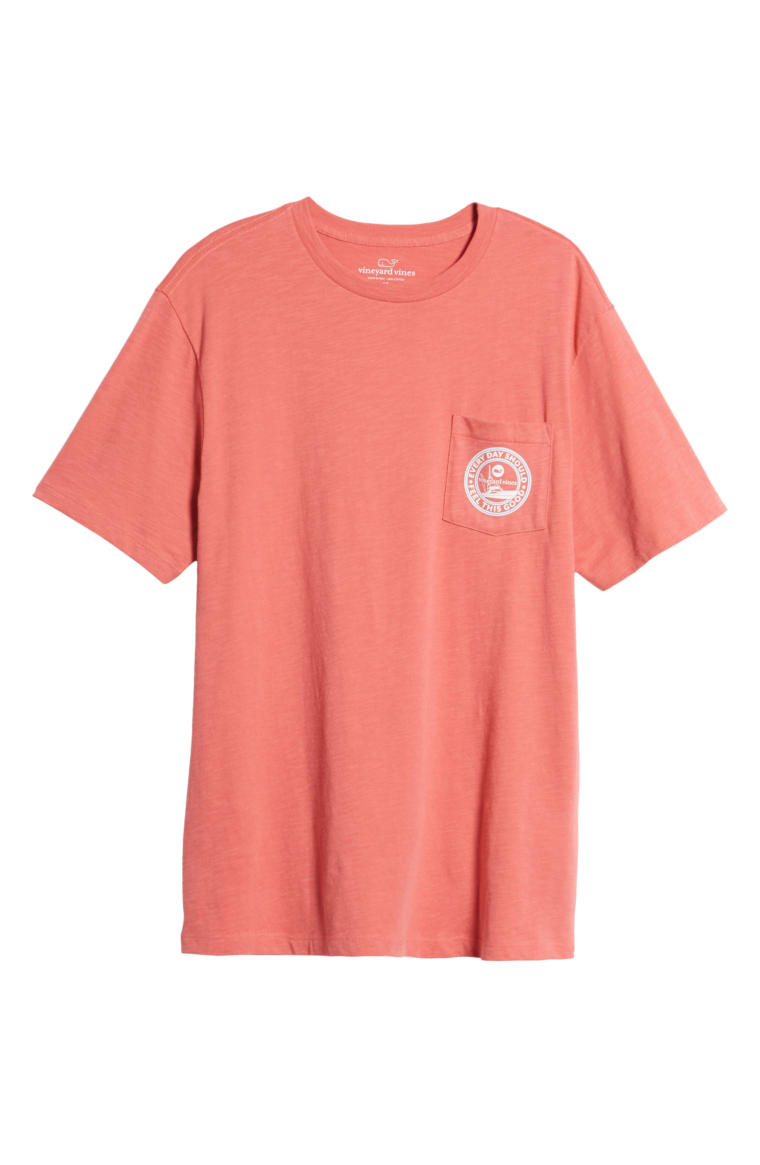 VINEYARD VINES,                             Every Day Should Feel This Good Pocket T-Shirt,                             Alternate thumbnail 6, color,                             628