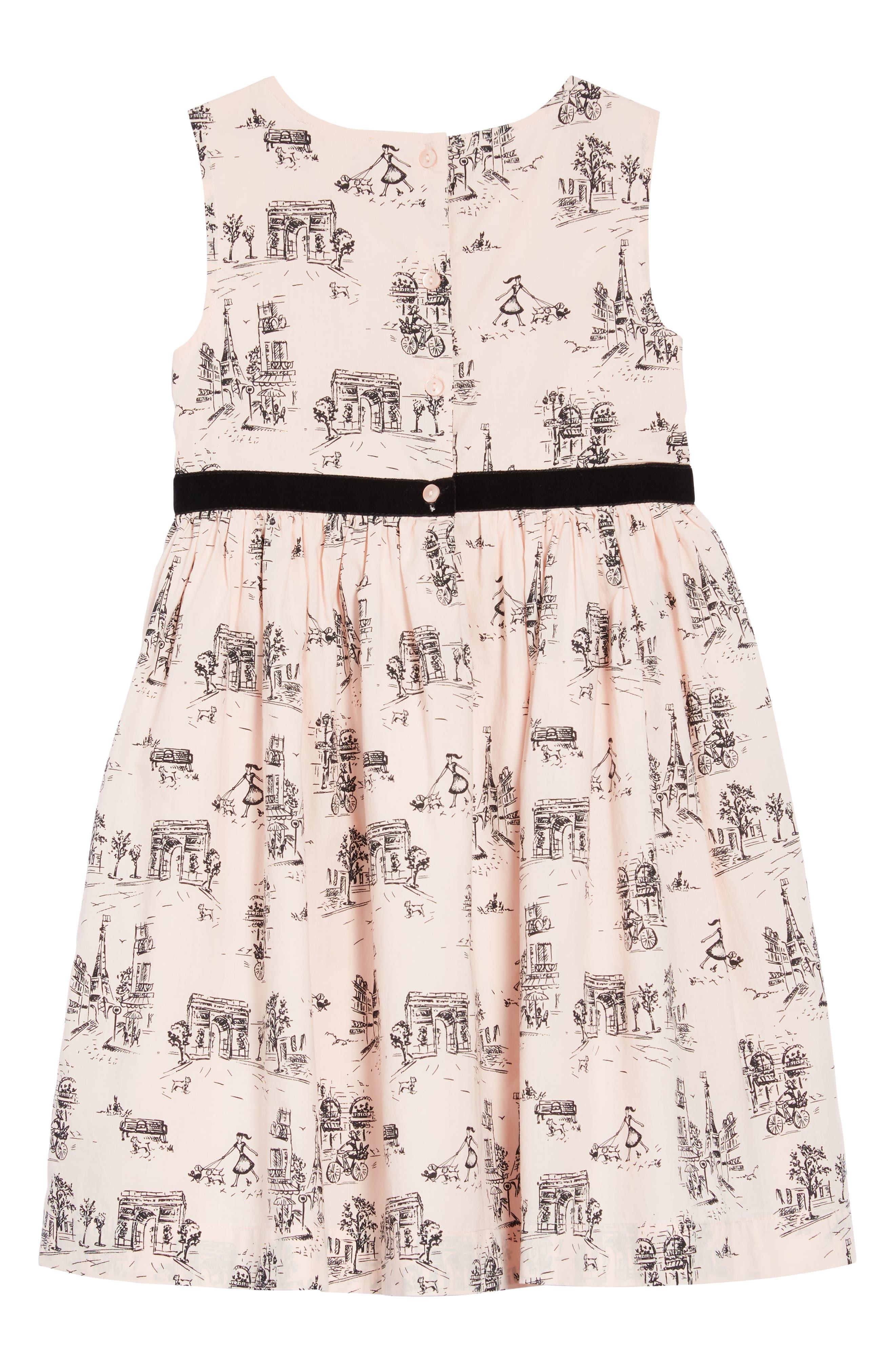 Print Dress,                             Alternate thumbnail 2, color,                             PINK CHINTZ TOILE