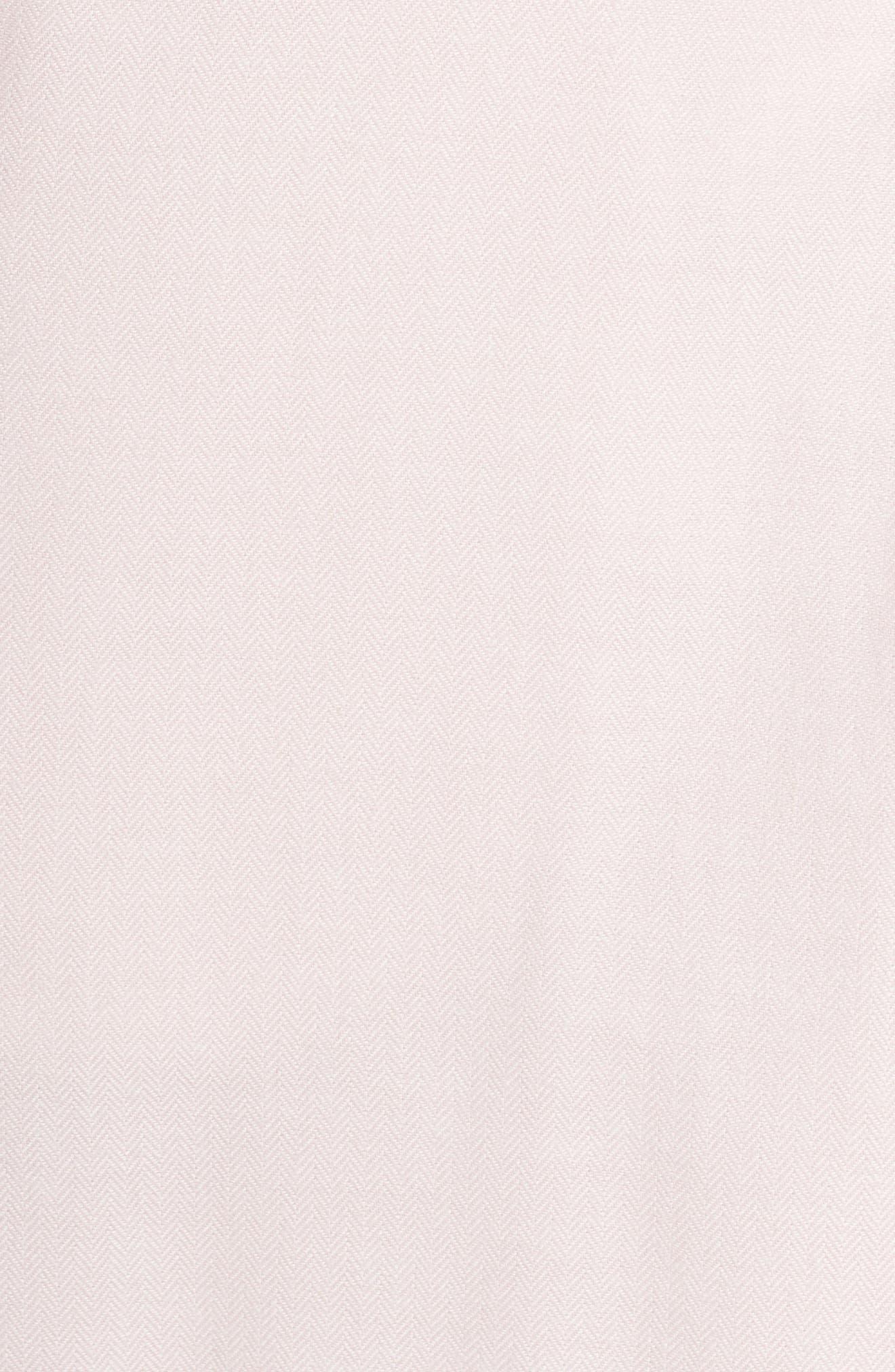Anika Herringbone Fleece Robe,                             Alternate thumbnail 5, color,                             STARLIGHT