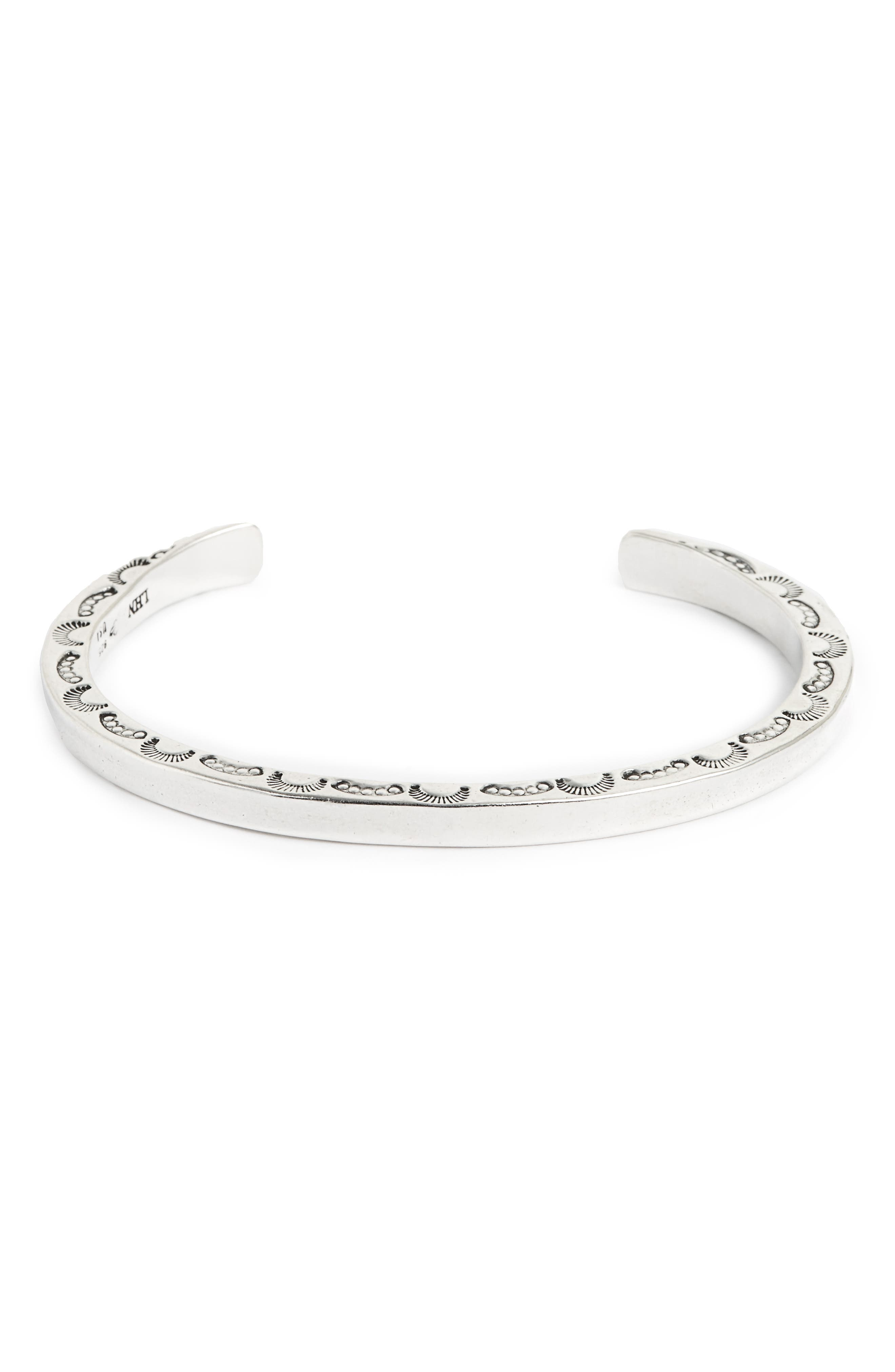 Sterling Silver Cuff Bracelet,                             Main thumbnail 1, color,