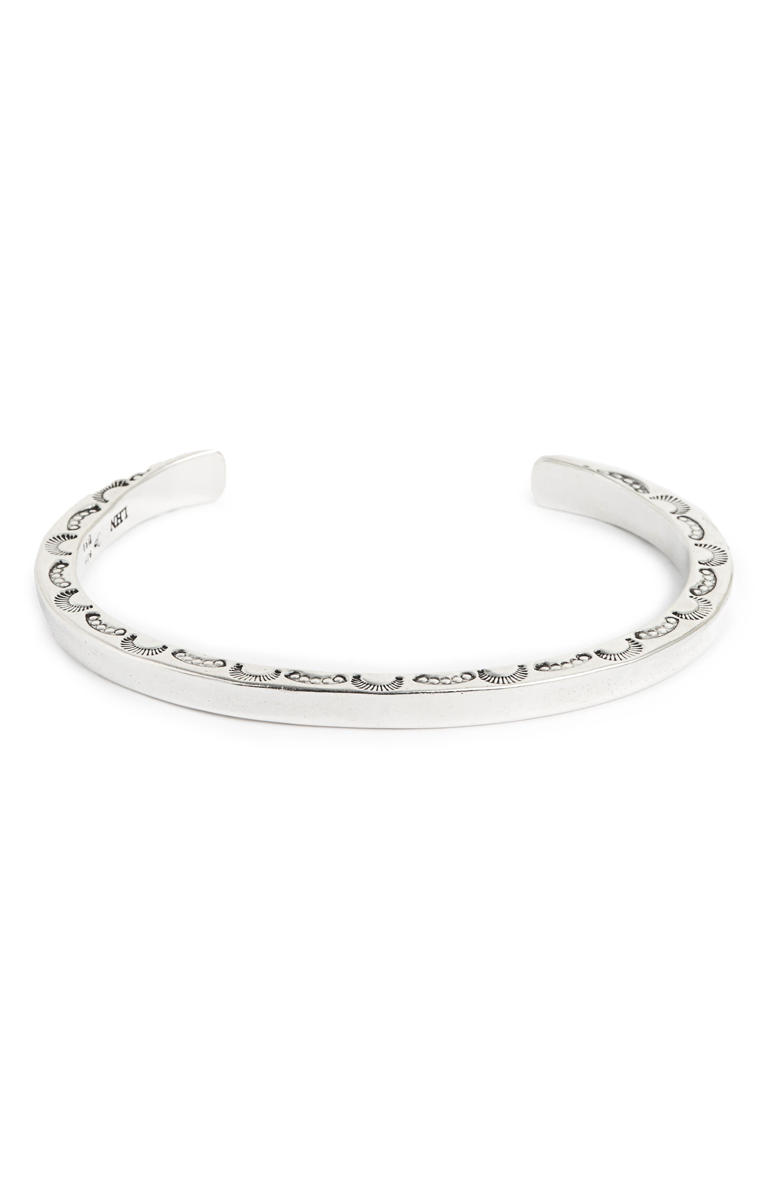 Sterling Silver Cuff Bracelet,                         Main,                         color,