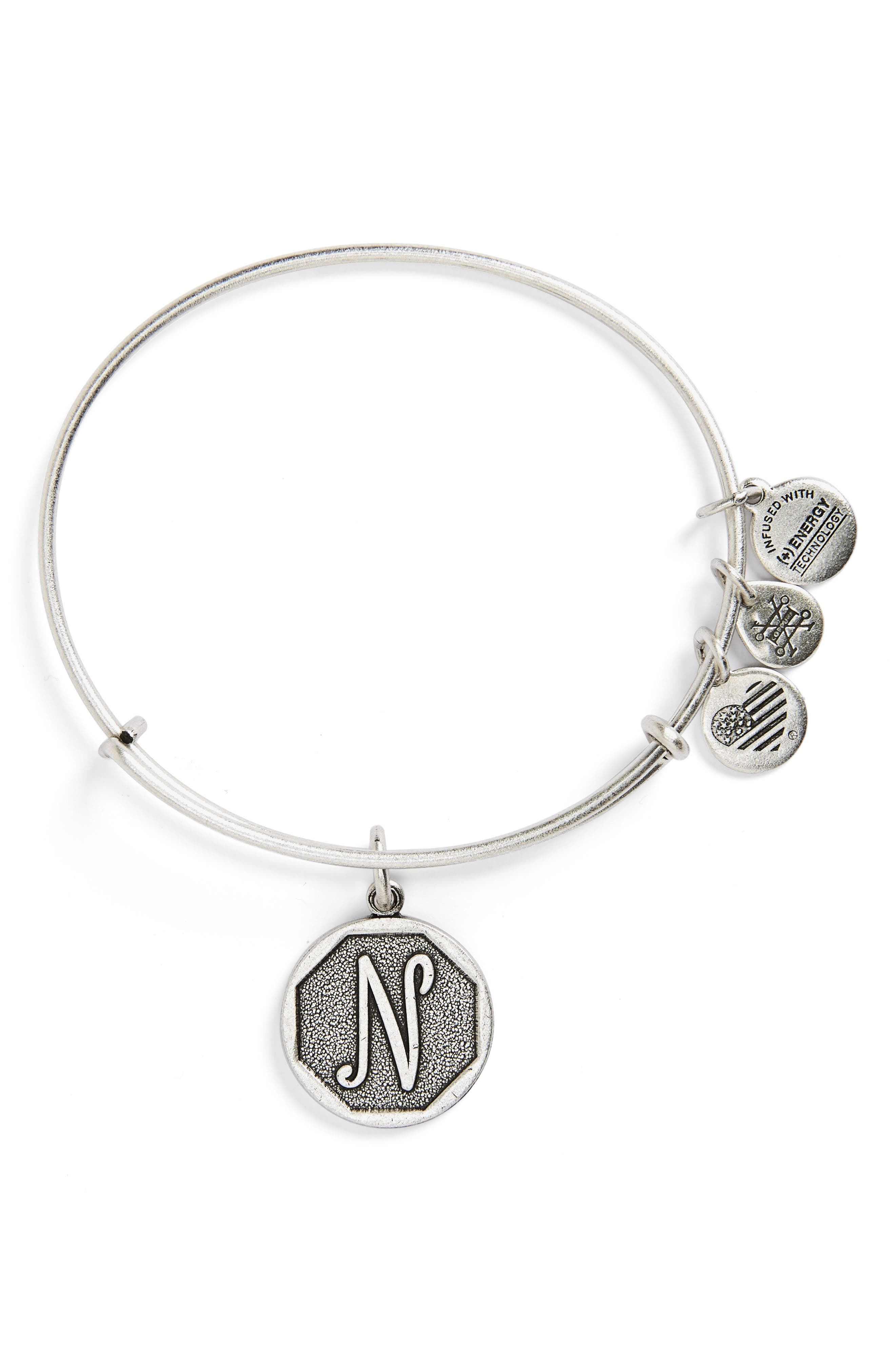 'Initial' Adjustable Wire Bangle,                             Alternate thumbnail 40, color,