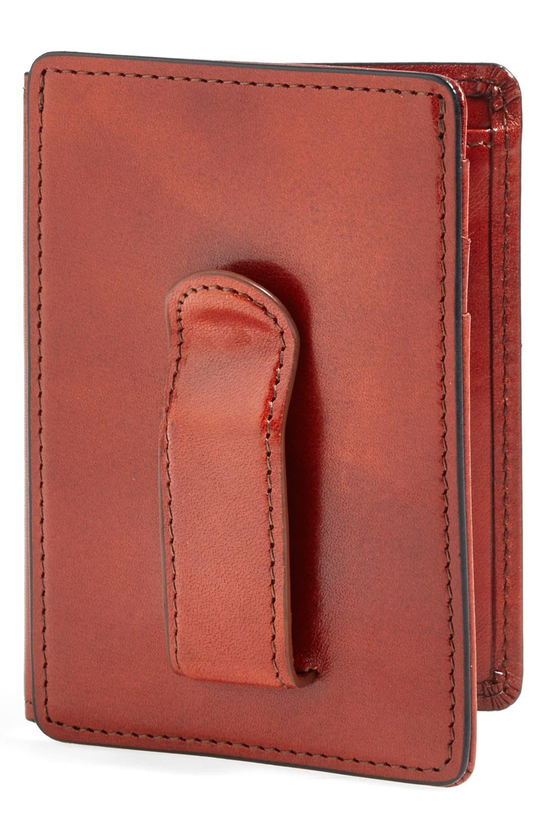 'Old Leather' Front Pocket ID Wallet,                             Main thumbnail 1, color,                             COGNAC