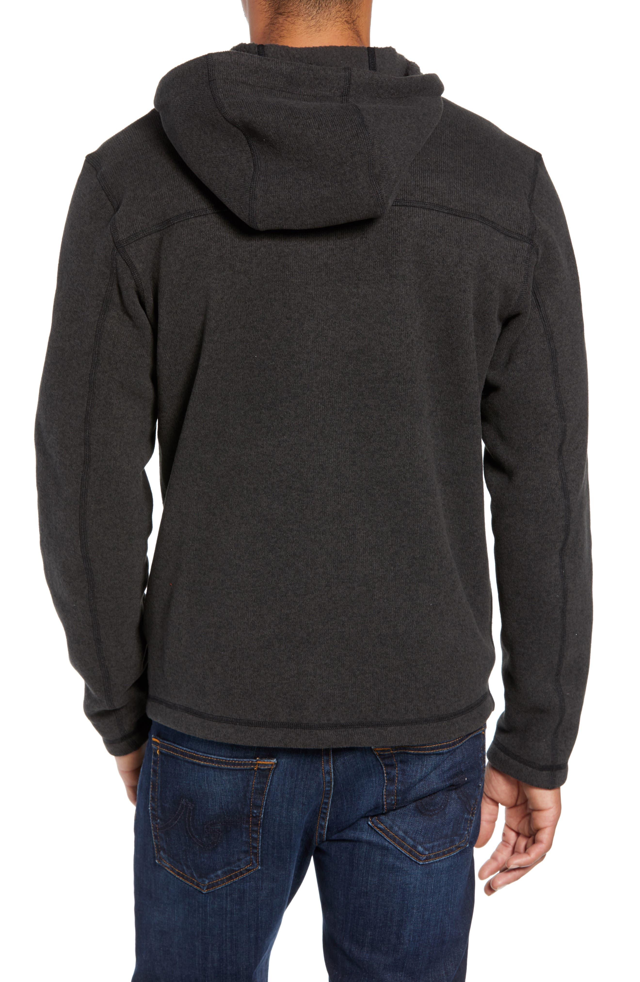 Gordon Lyons Relaxed Fit Sweater Fleece Hoodie,                             Alternate thumbnail 2, color,                             TNF BLACK HEATHER