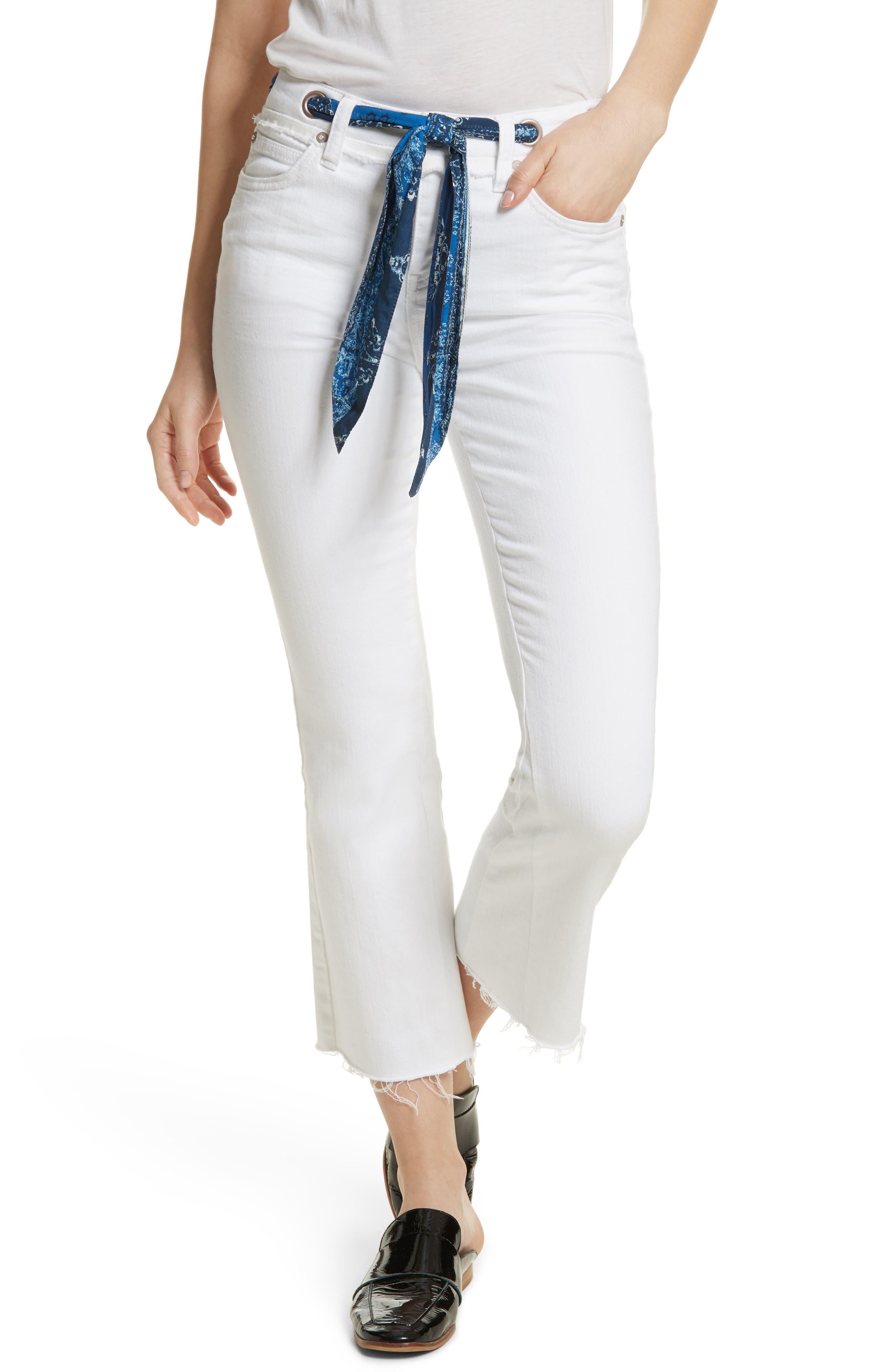 Belt Our Crop Bootcut Jeans,                             Main thumbnail 1, color,                             903