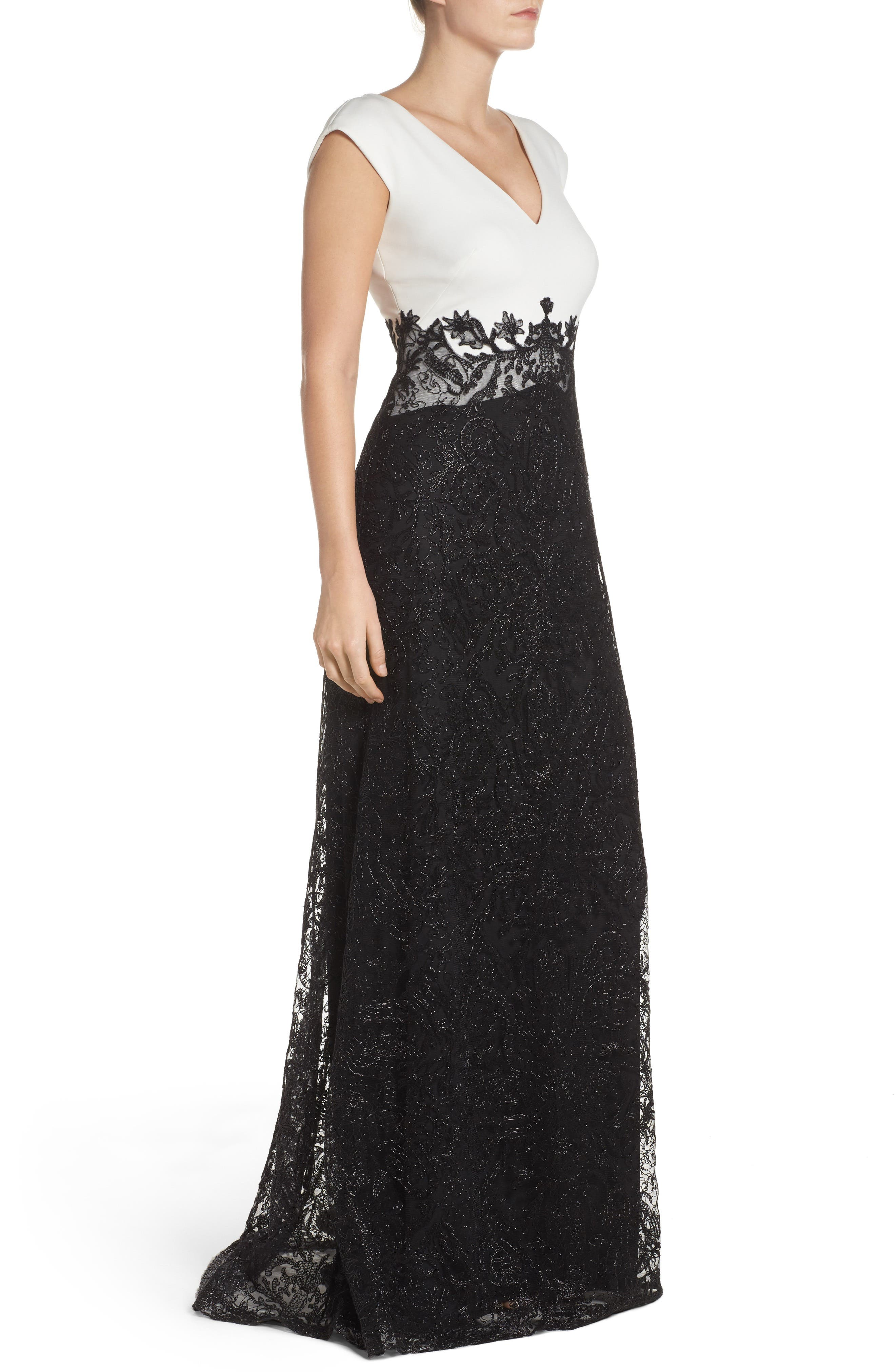 Two-Tone Gown,                             Alternate thumbnail 3, color,                             001