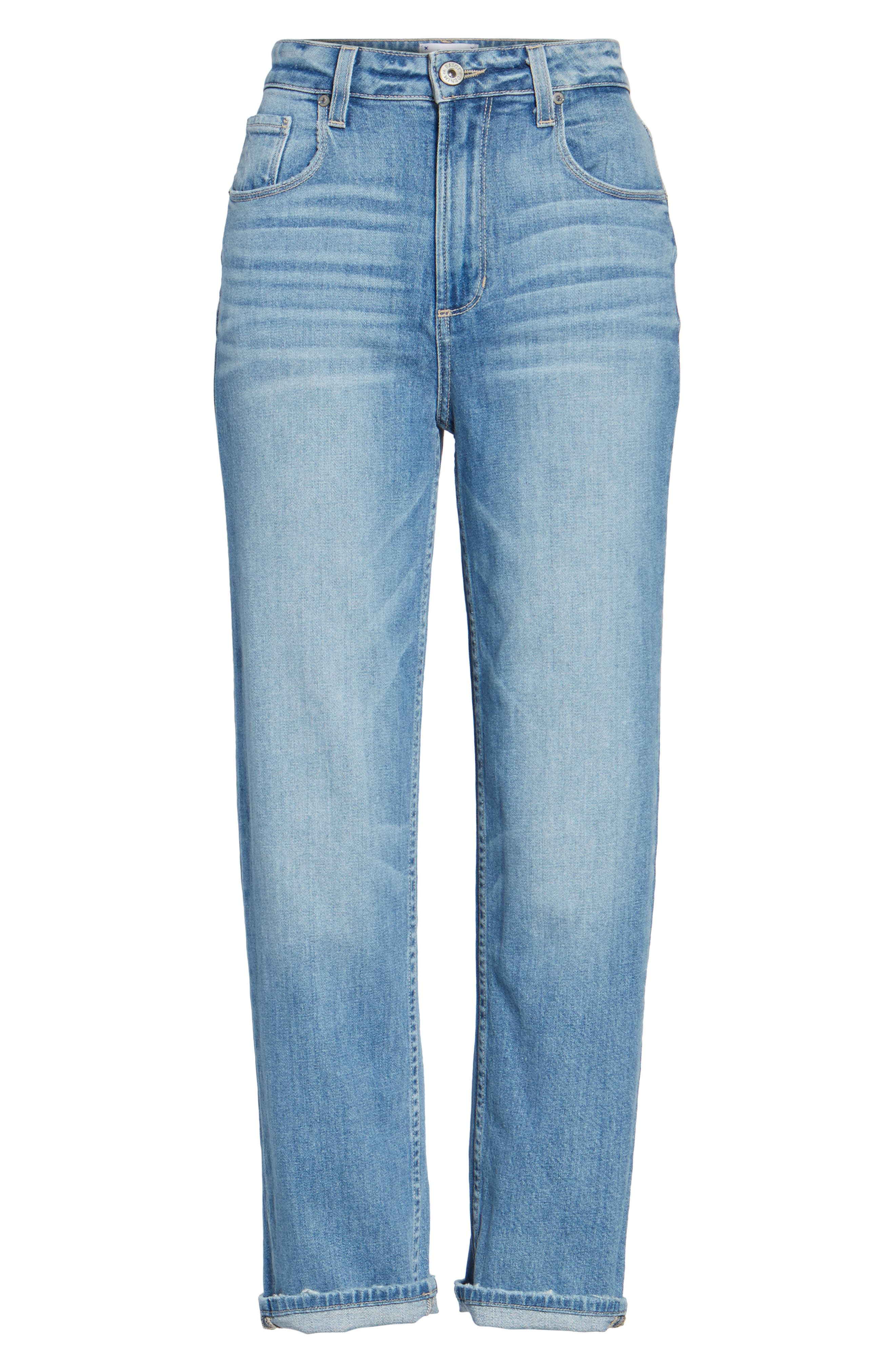 Sarah High Waist Crop Straight Leg Jeans,                             Alternate thumbnail 7, color,                             400