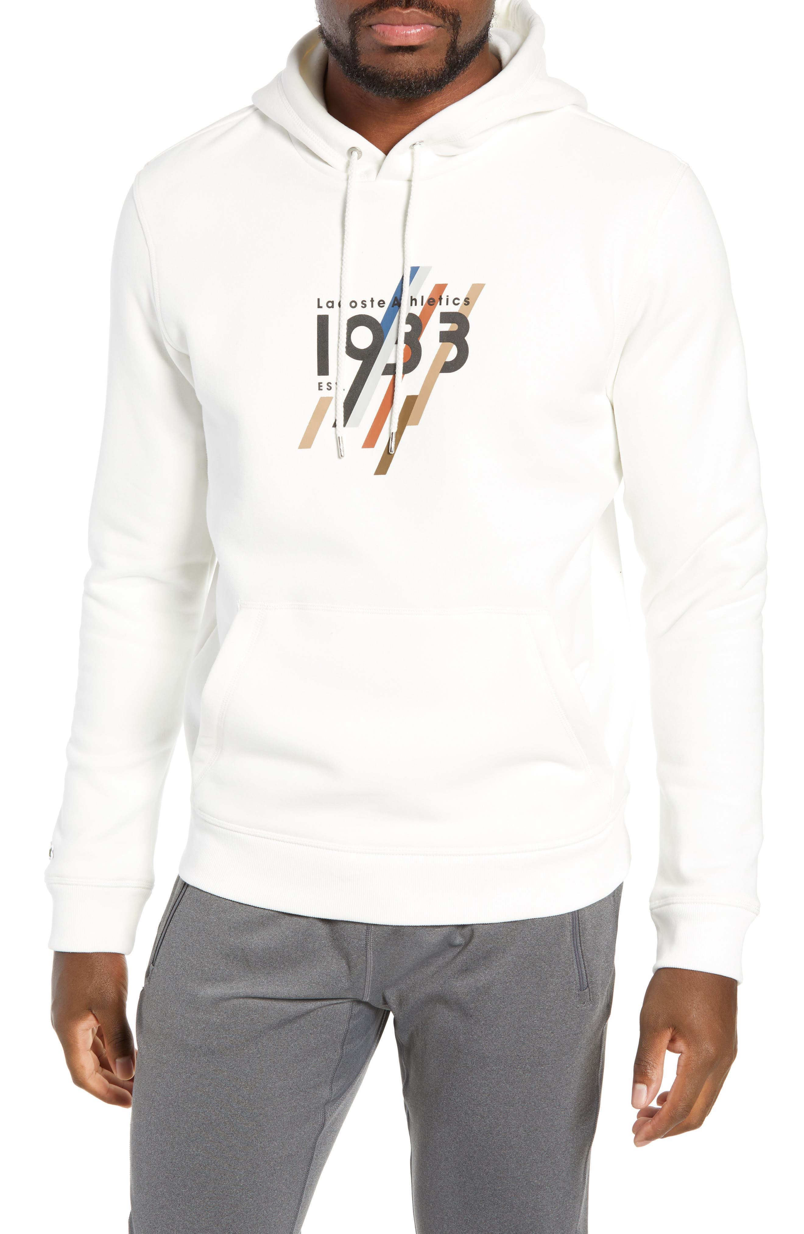 Regular Fit 1933 Graphic Hoodie,                         Main,                         color, FLOUR