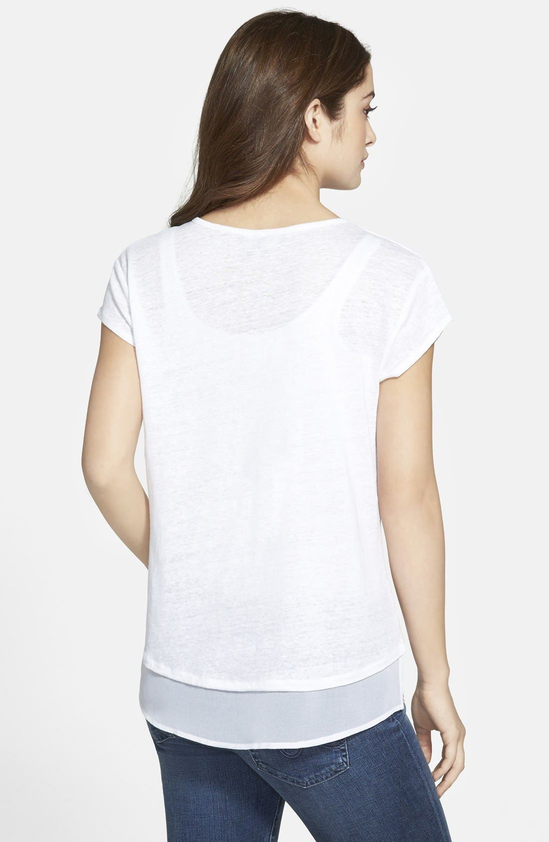 City Mix Layered Look Tee,                             Alternate thumbnail 93, color,