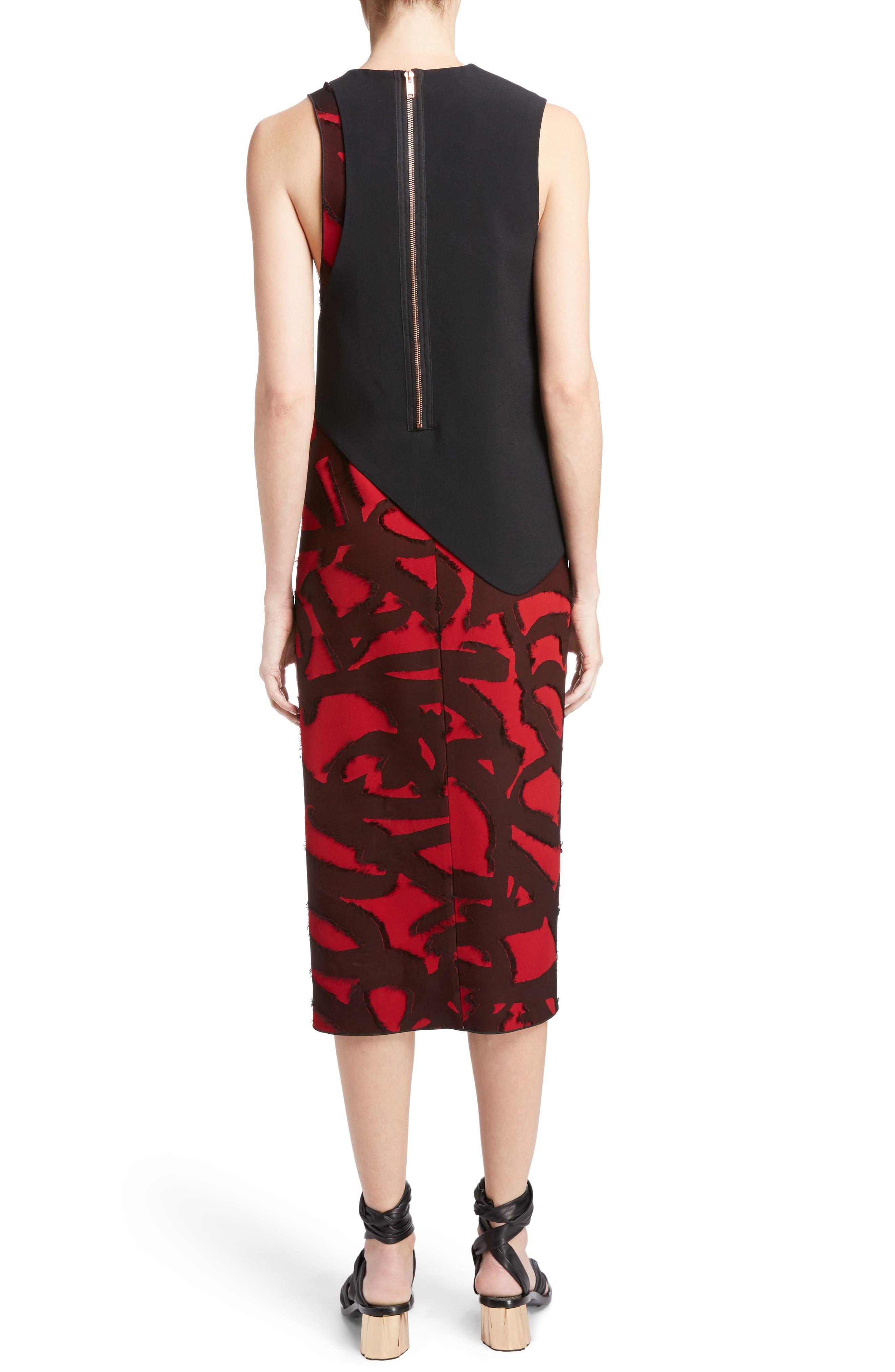 Fil Coupé Jacquard Layered Dress,                             Alternate thumbnail 2, color,                             001