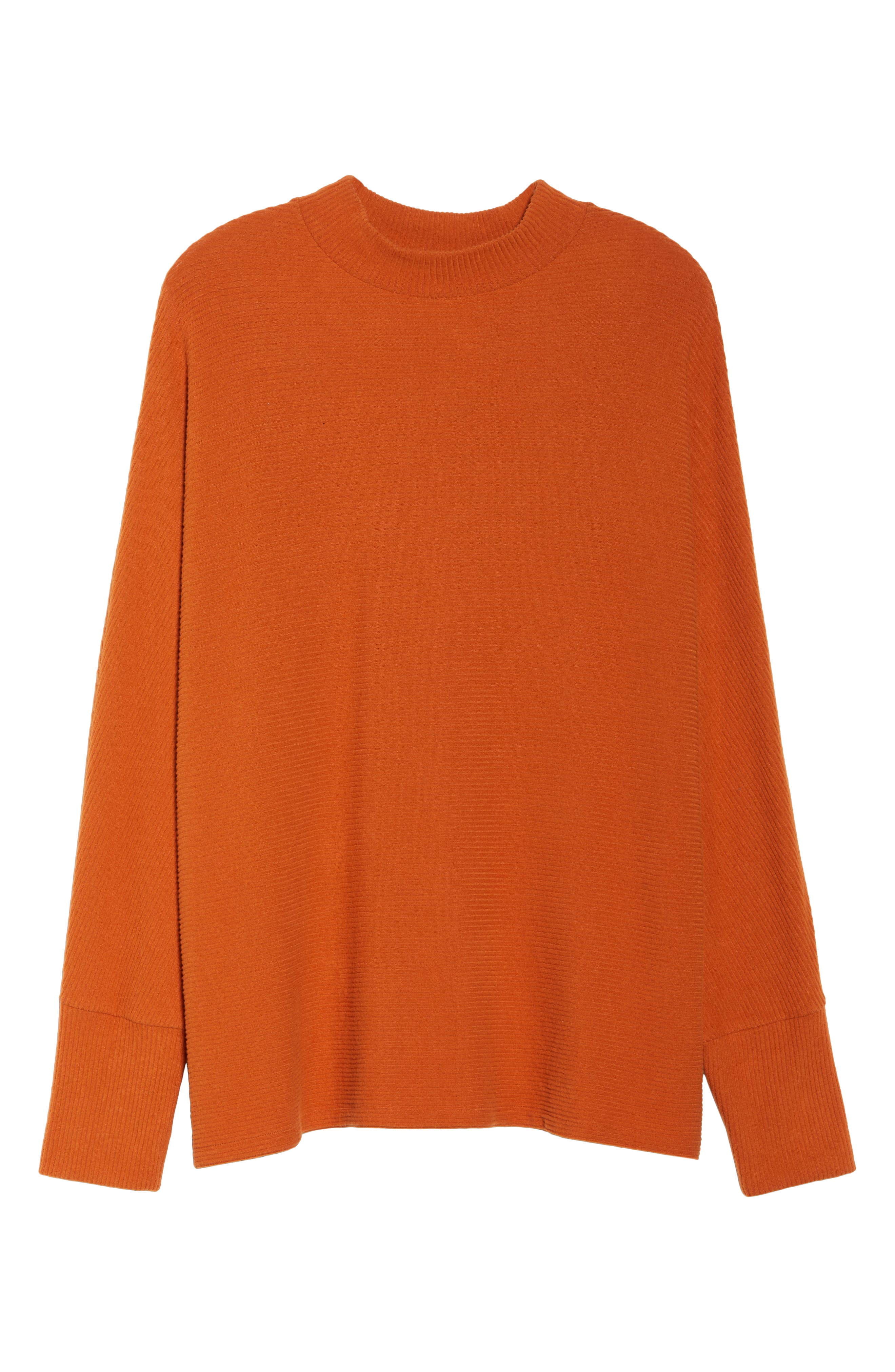 Dolman Sleeve Ribbed Top,                             Alternate thumbnail 11, color,                             RUST CIDER