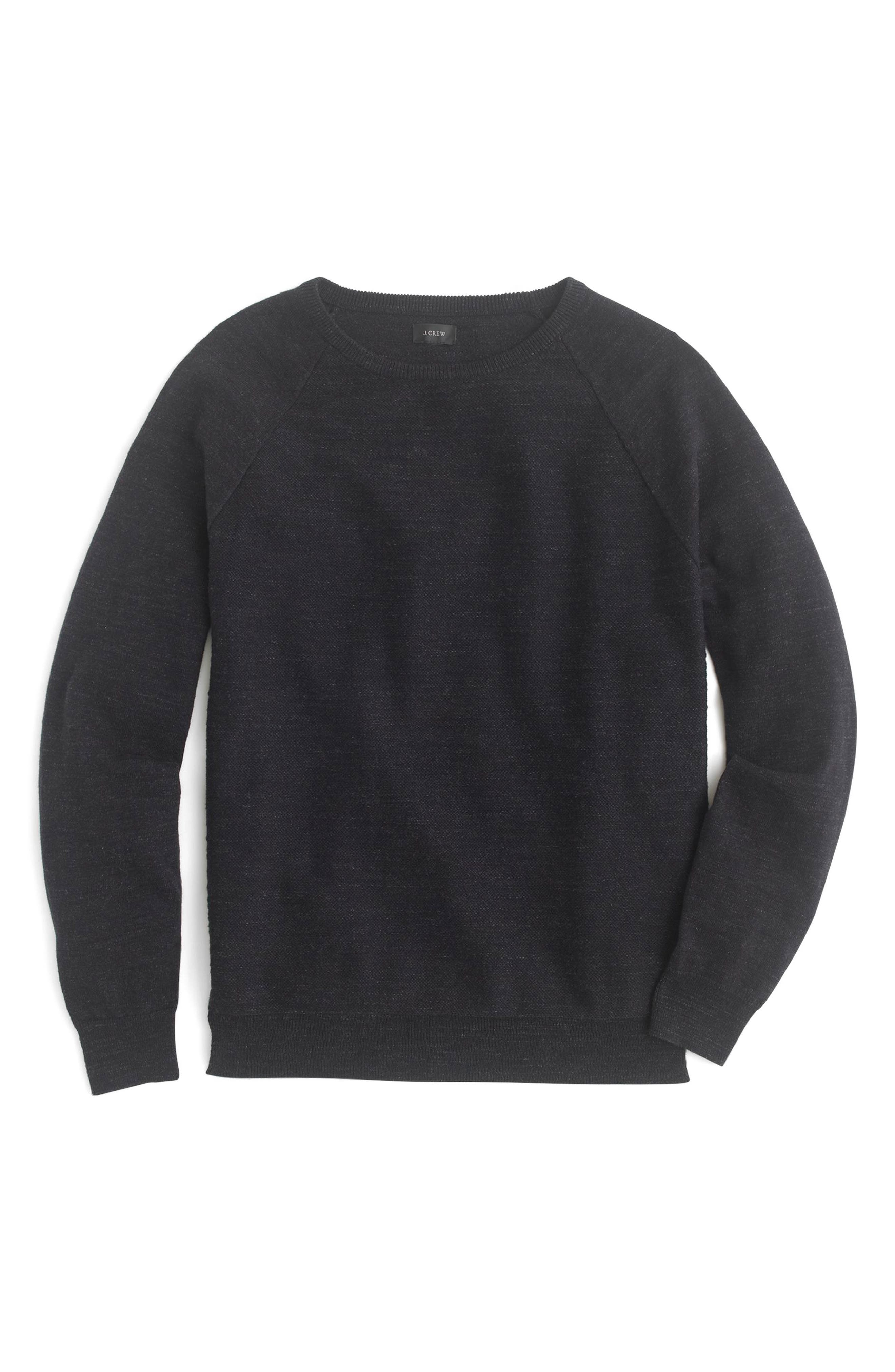 Slim Rugged Cotton Sweater,                             Main thumbnail 1, color,
