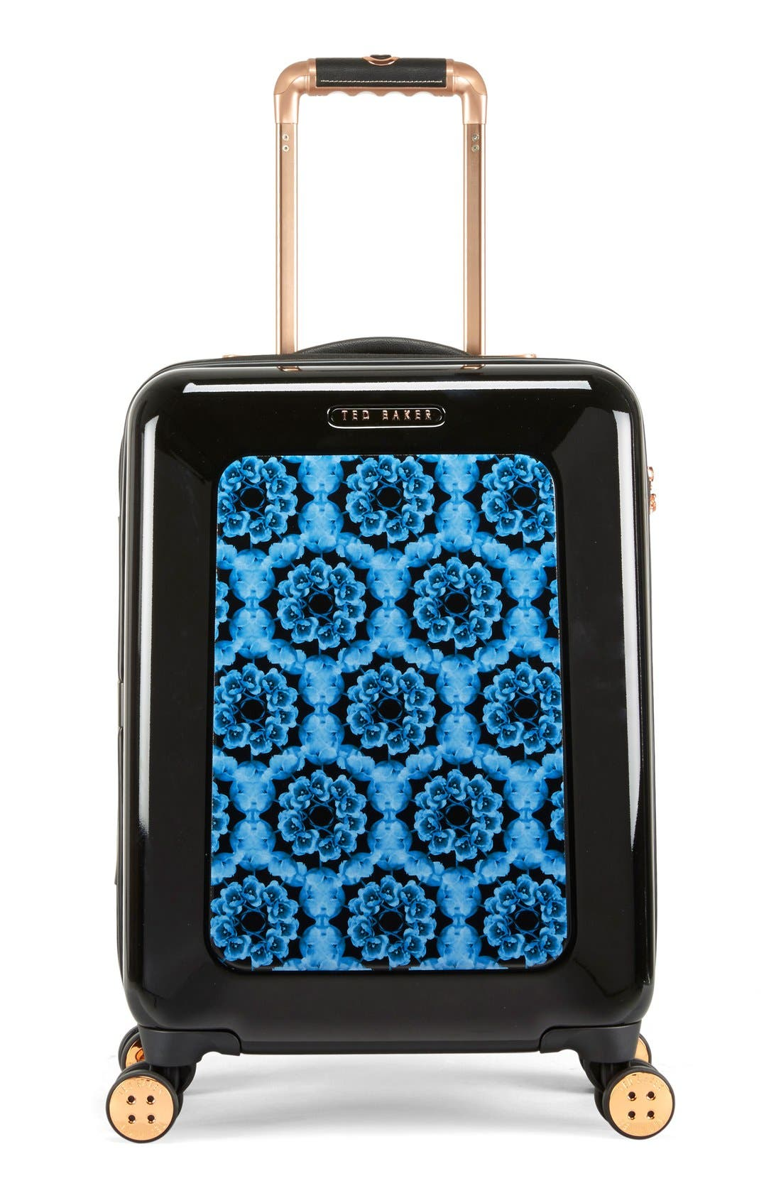 Small 22-Inch Blue Beauty Suitcase,                             Alternate thumbnail 5, color,