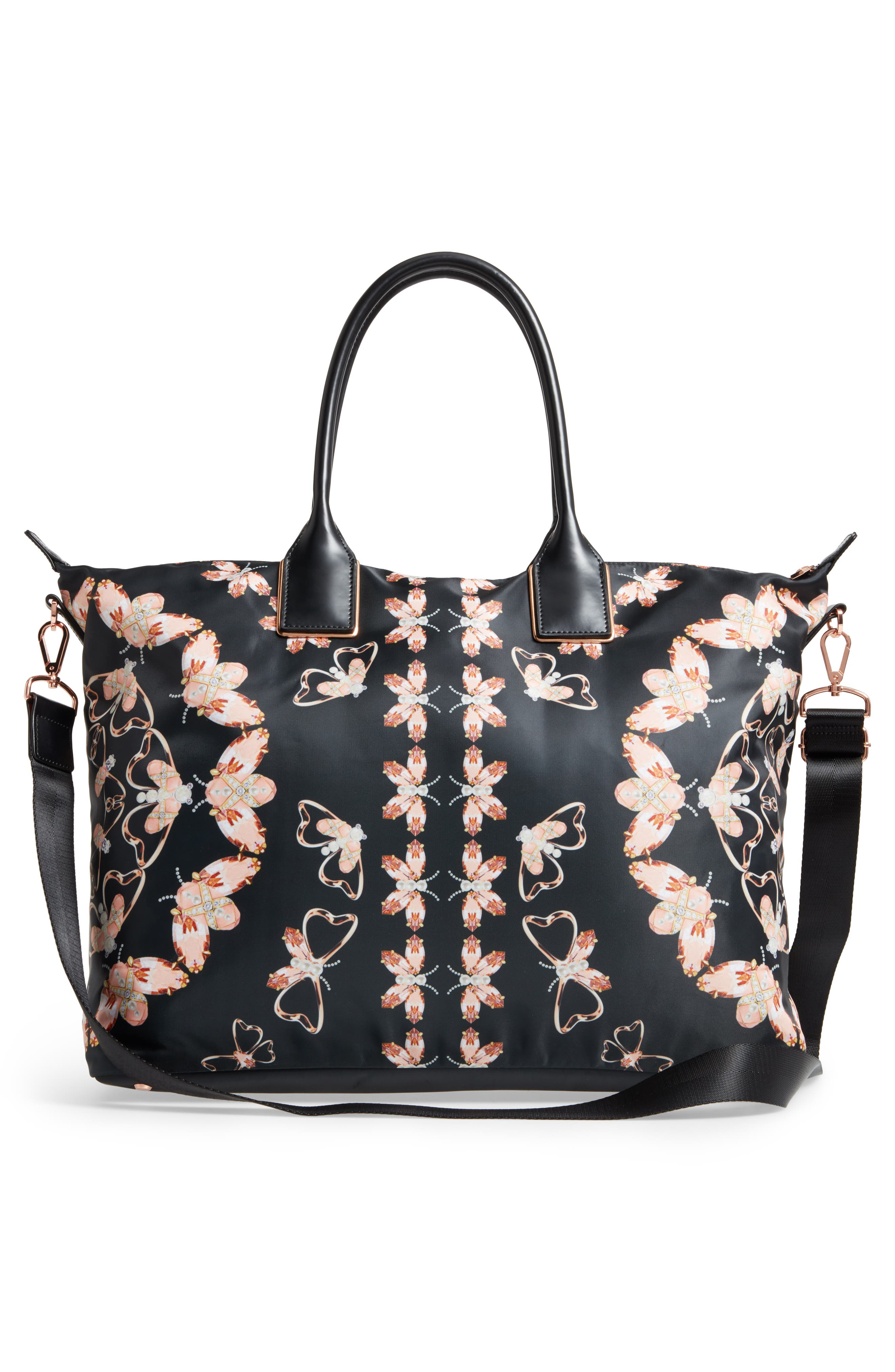 Large Ezora Queen Bee Tote,                             Alternate thumbnail 3, color,