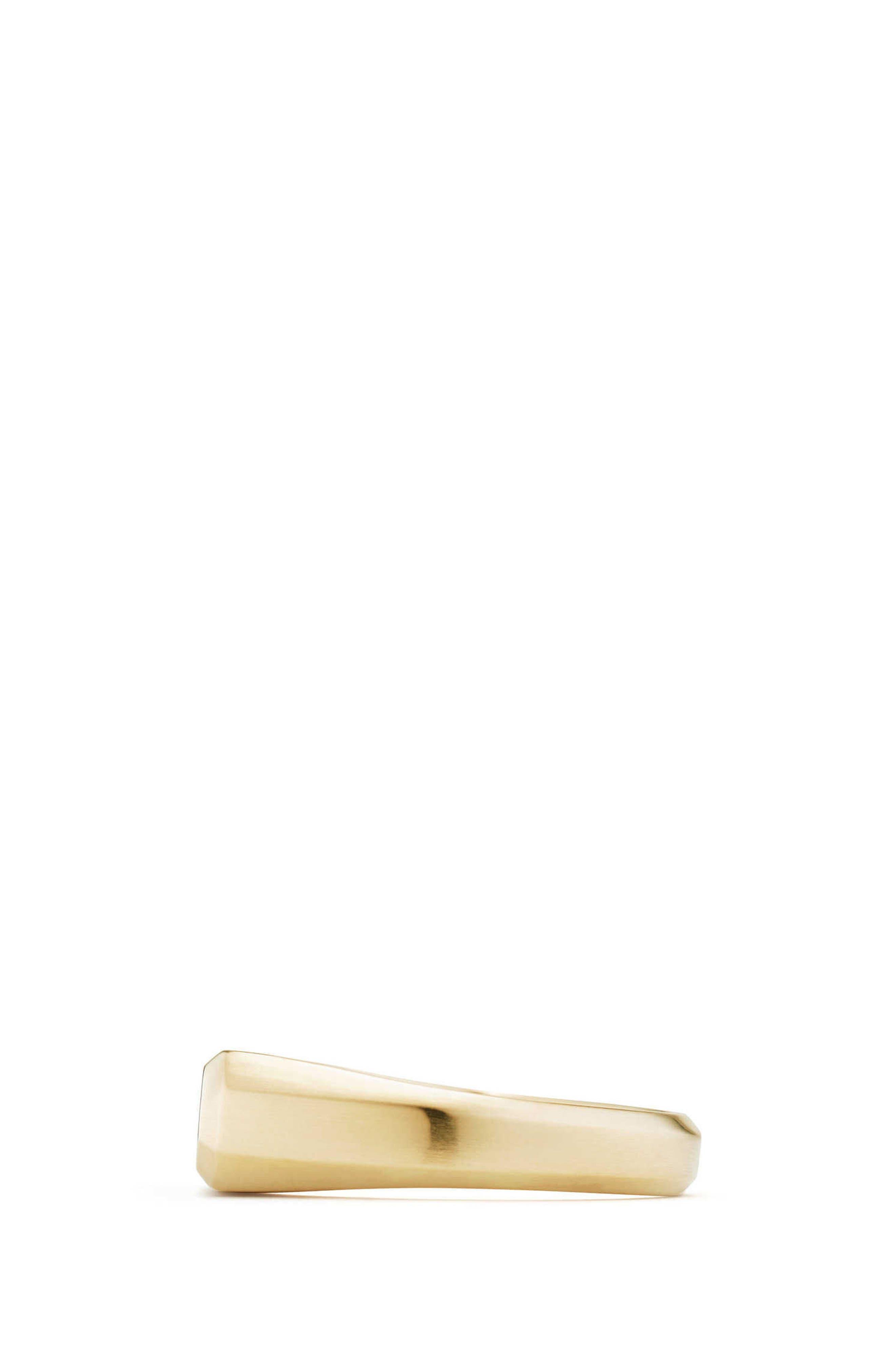 Streamline Signet Ring in 18K Gold,                             Alternate thumbnail 2, color,                             GOLD