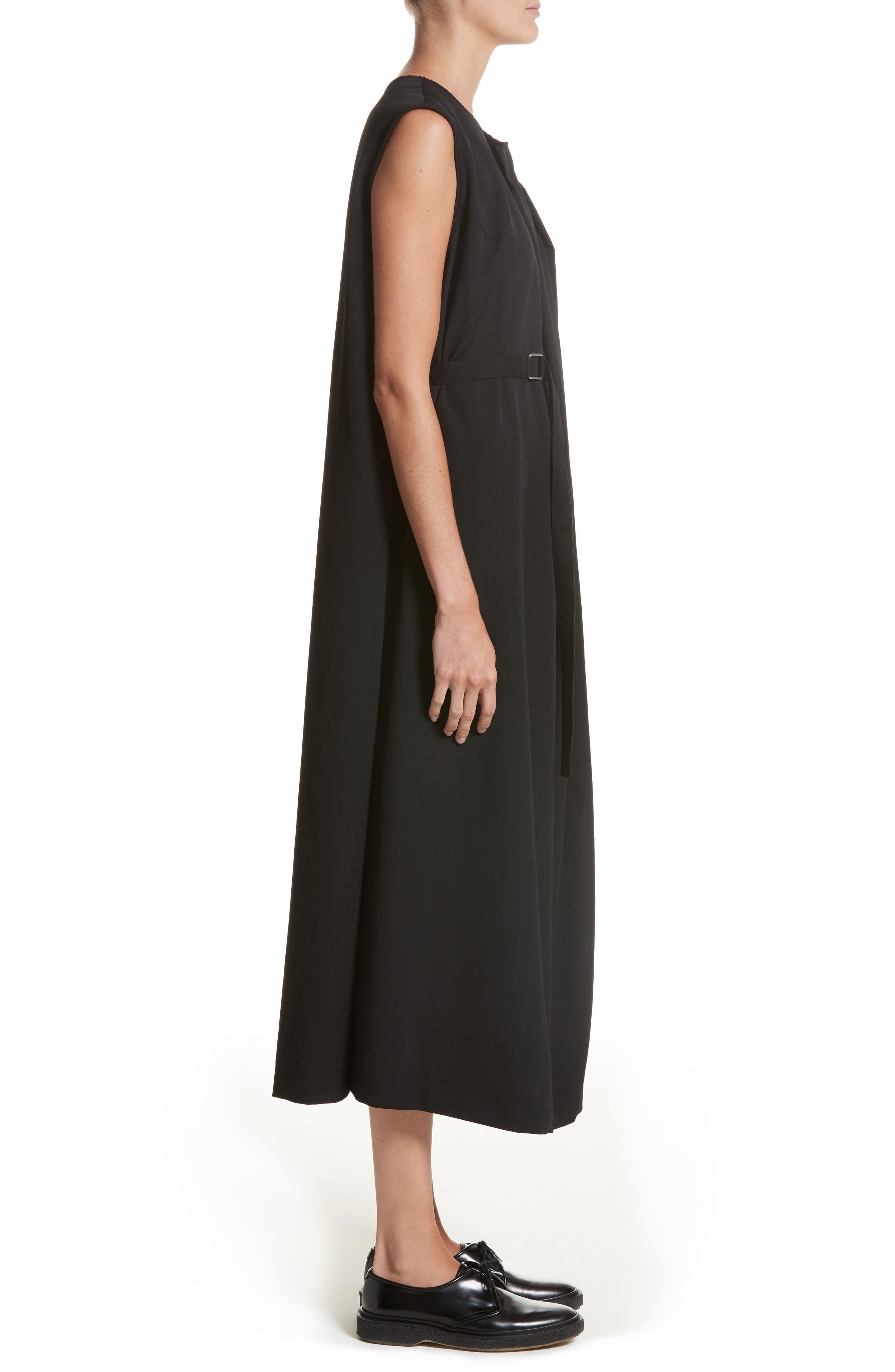 N-F Pleats Dress,                             Alternate thumbnail 3, color,                             001