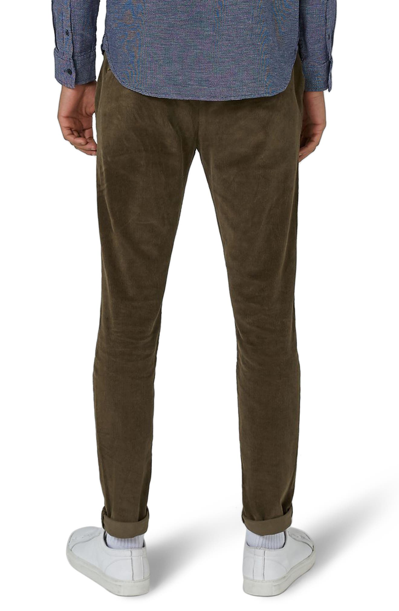 Skinny Fit Corduroy Trousers,                             Alternate thumbnail 3, color,