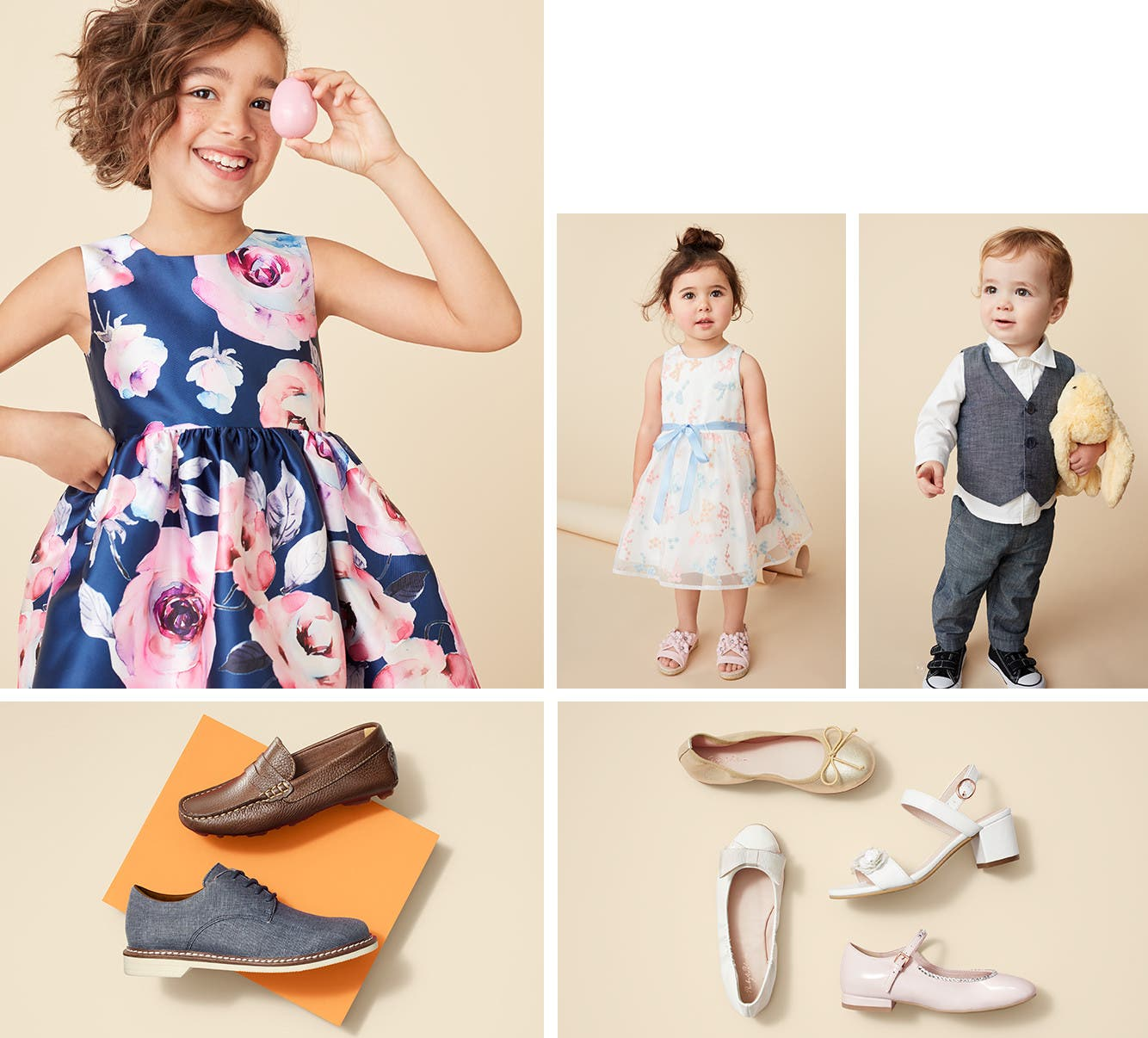Kids' special occasion clothing, shoes and accessories.