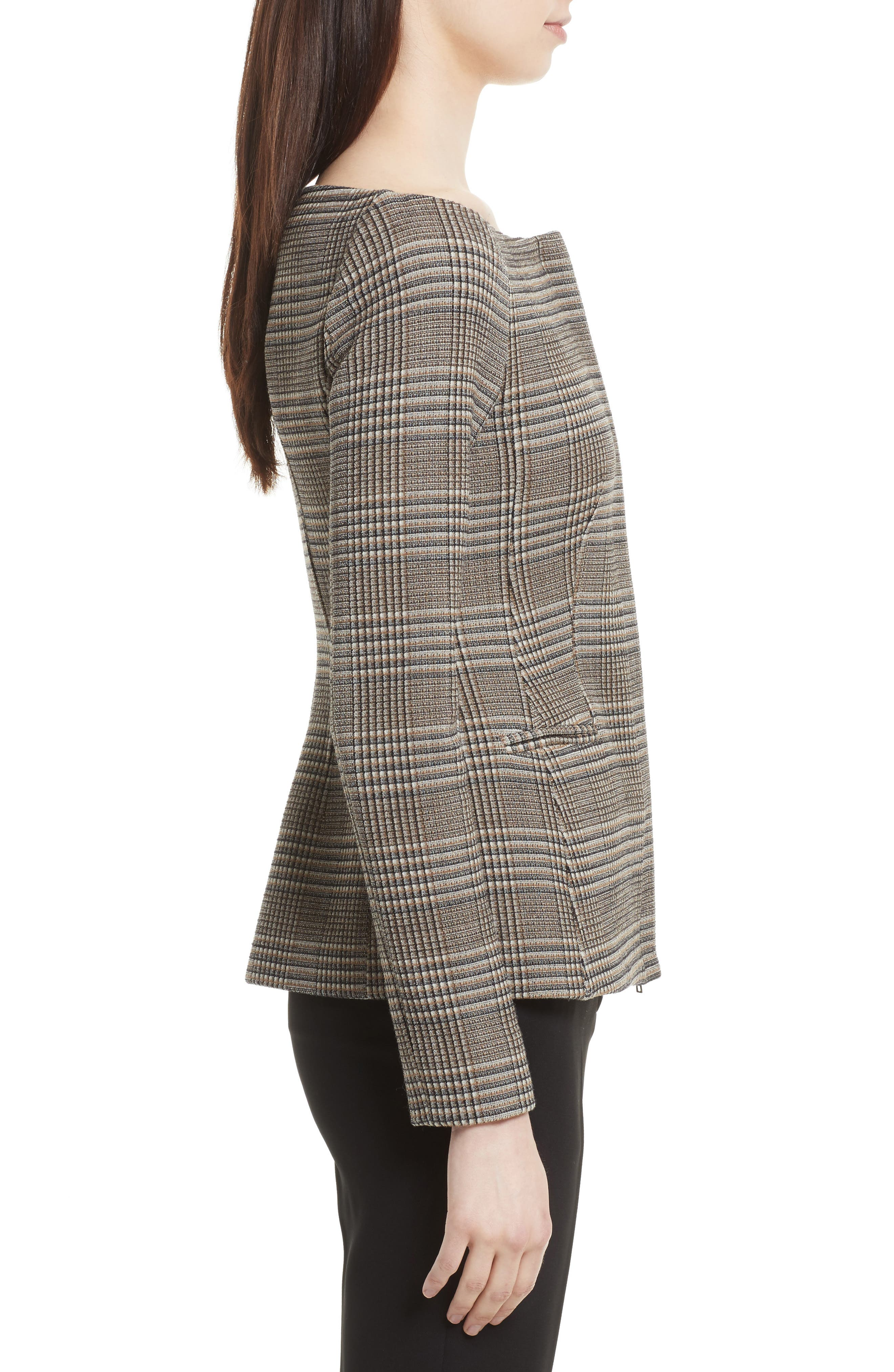Hadfield Off the Shoulder Stretch Wool Jacket,                             Alternate thumbnail 3, color,                             204