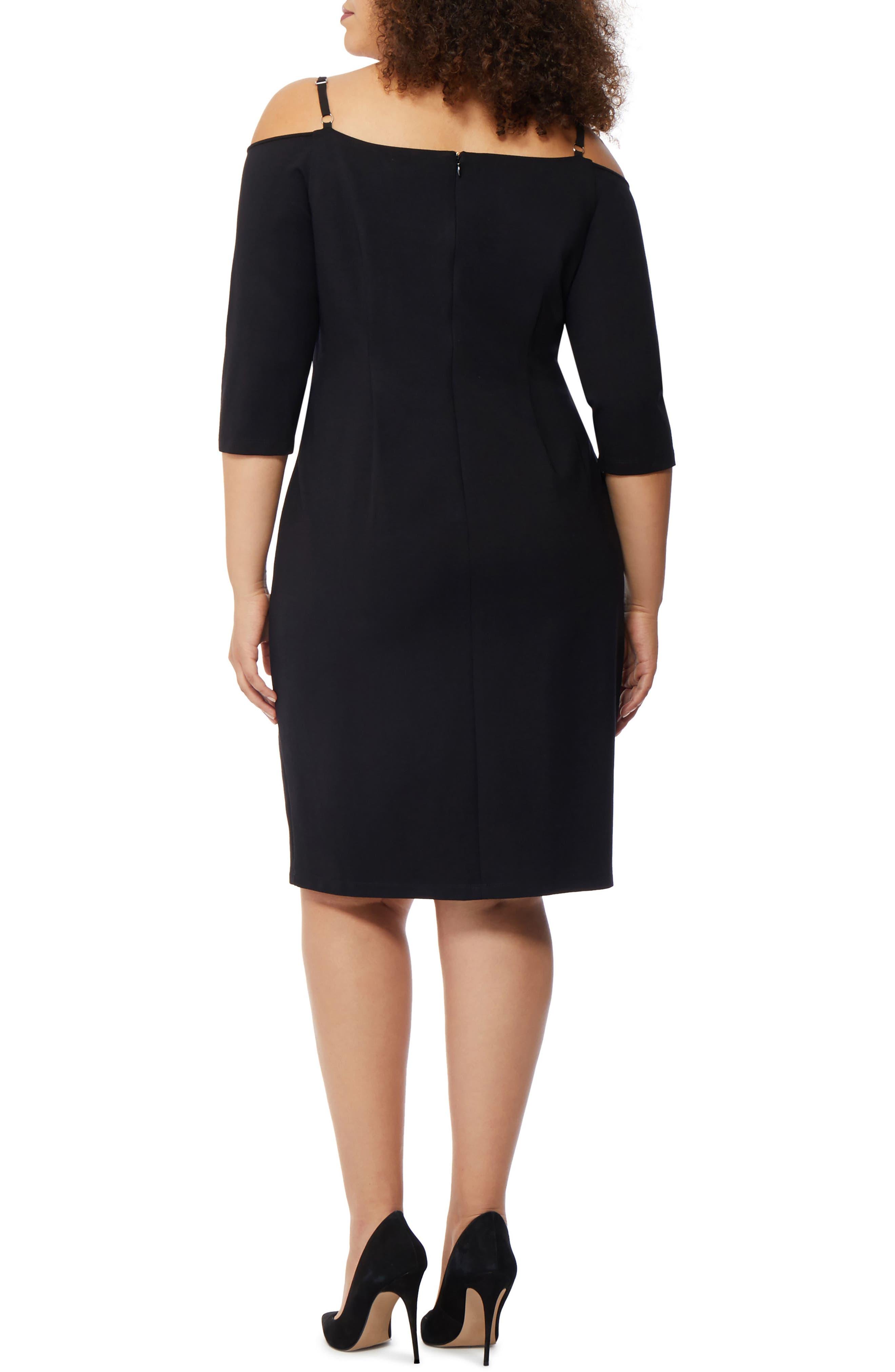 Cold Shoulder Dress,                             Alternate thumbnail 2, color,                             001