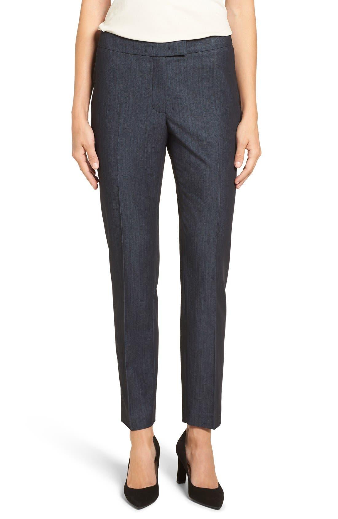 Slim Stretch Denim Suit Pants,                         Main,                         color, 400