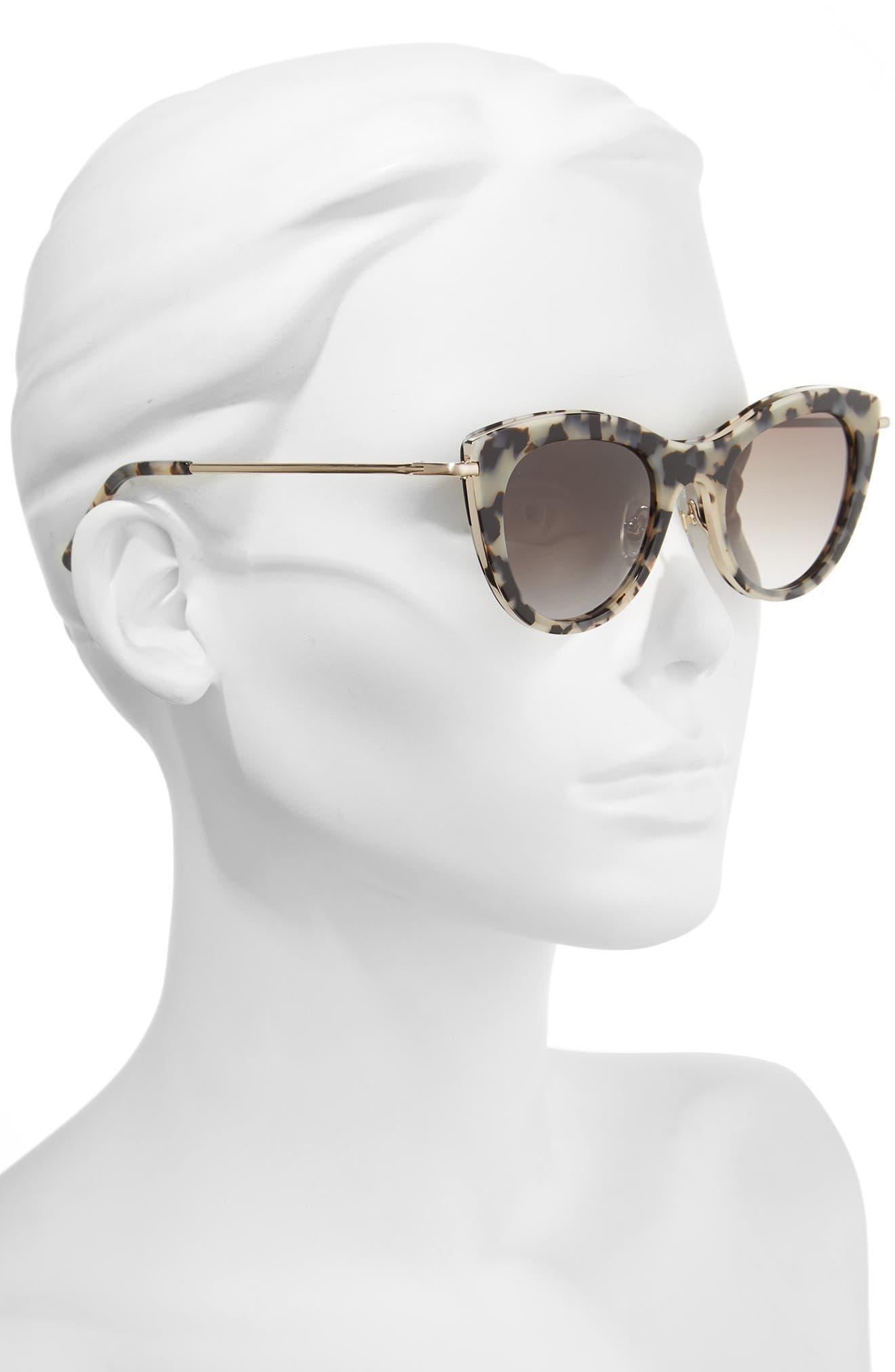Gansevoort 48mm Special Fit Cat Eye Sunglasses,                             Alternate thumbnail 5, color,