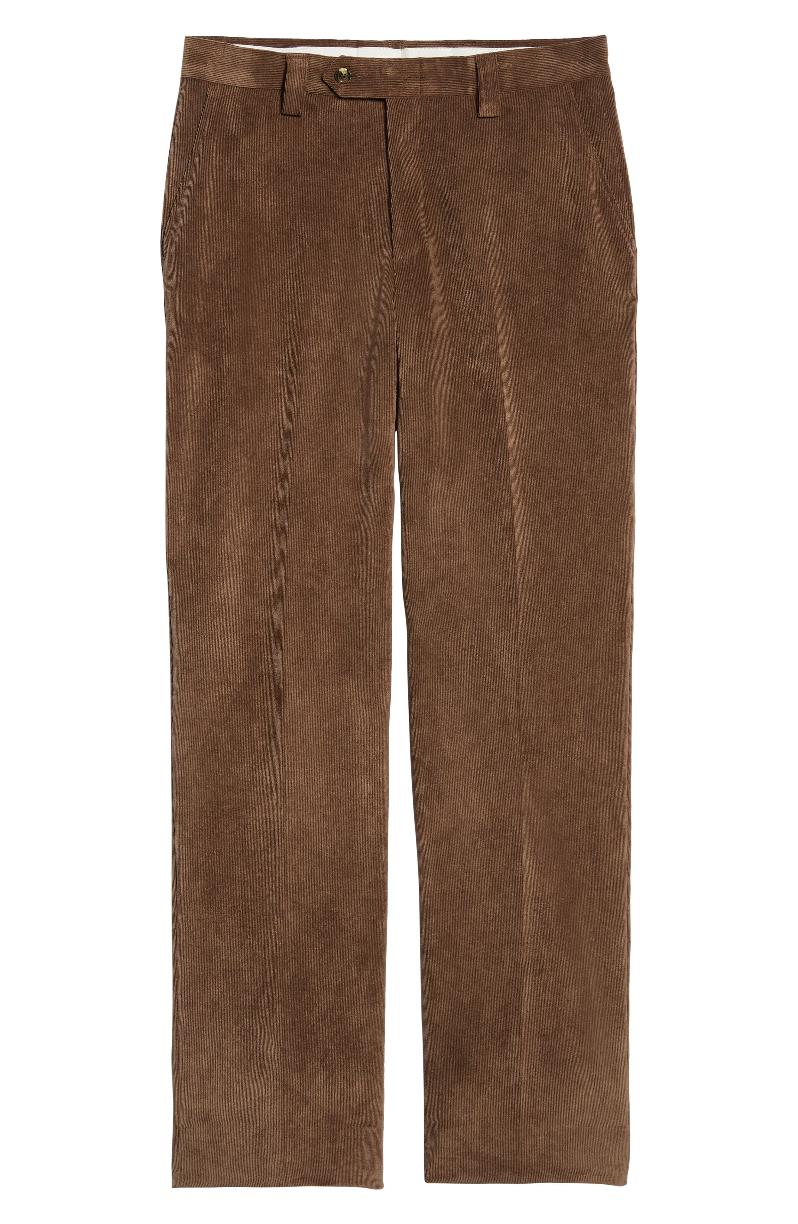 BERLE,                             Classic Fit Flat Front Corduroy Trousers,                             Alternate thumbnail 6, color,                             200