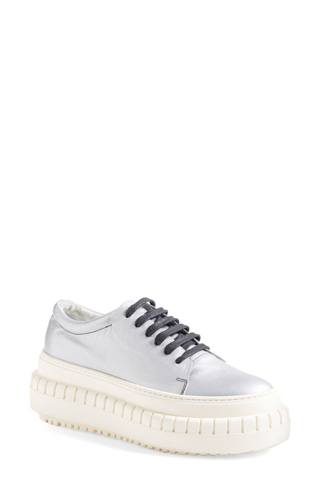 ACNE STUDIOS,                             ACNE Studio 'Saddy' Platform Sneaker,                             Main thumbnail 1, color,                             040