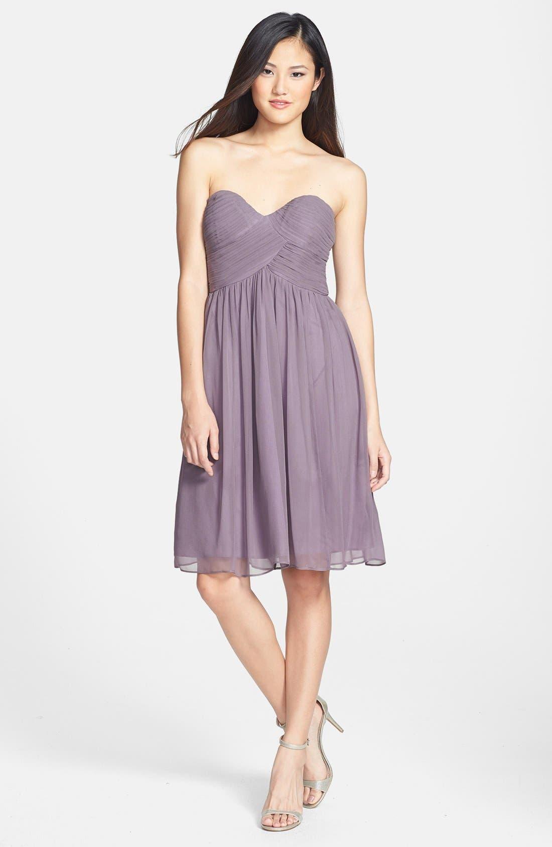 'Morgan' Strapless Silk Chiffon Dress,                             Alternate thumbnail 76, color,