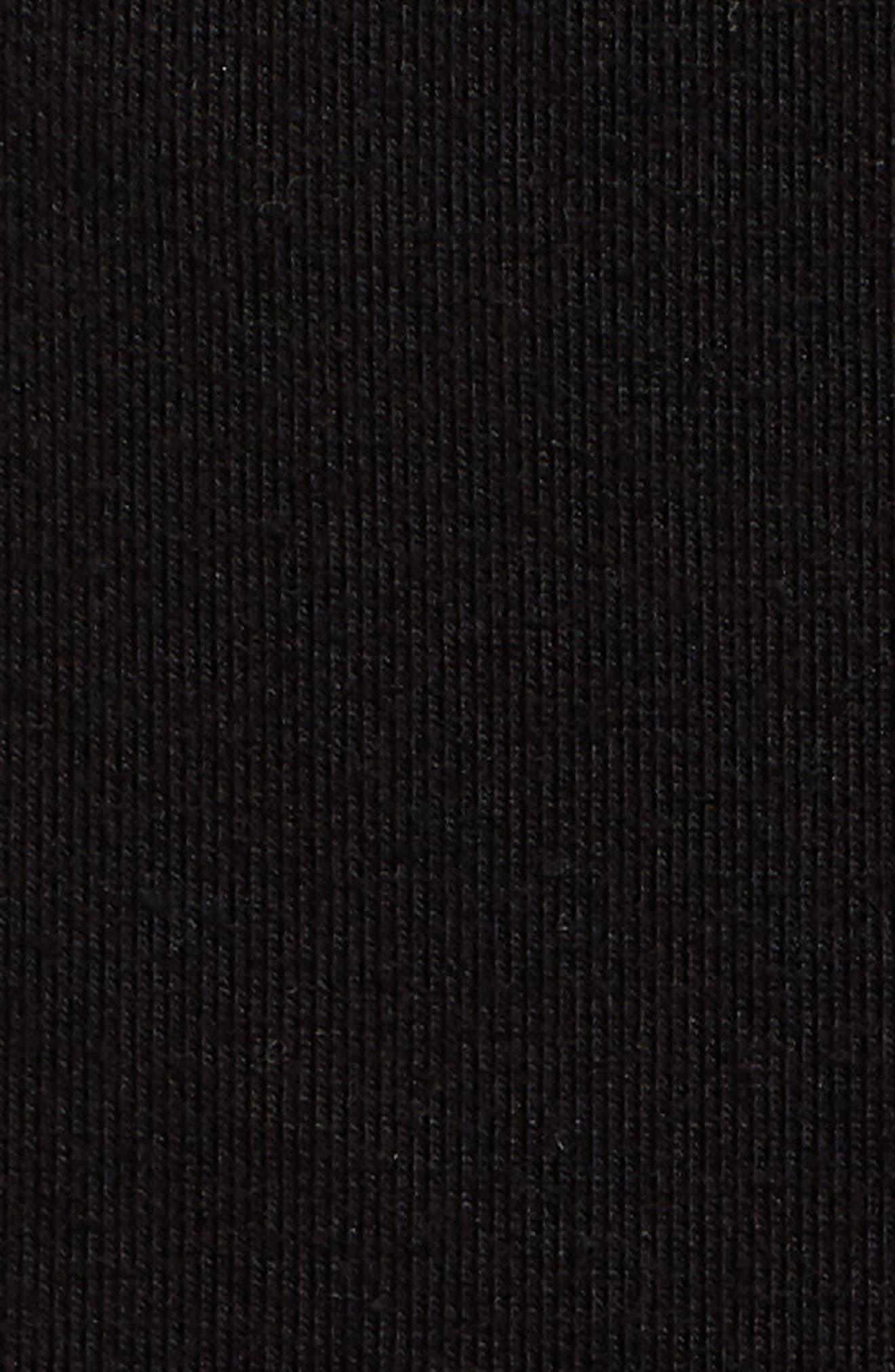 High Waist Crop Leggings,                             Alternate thumbnail 6, color,                             BLACK