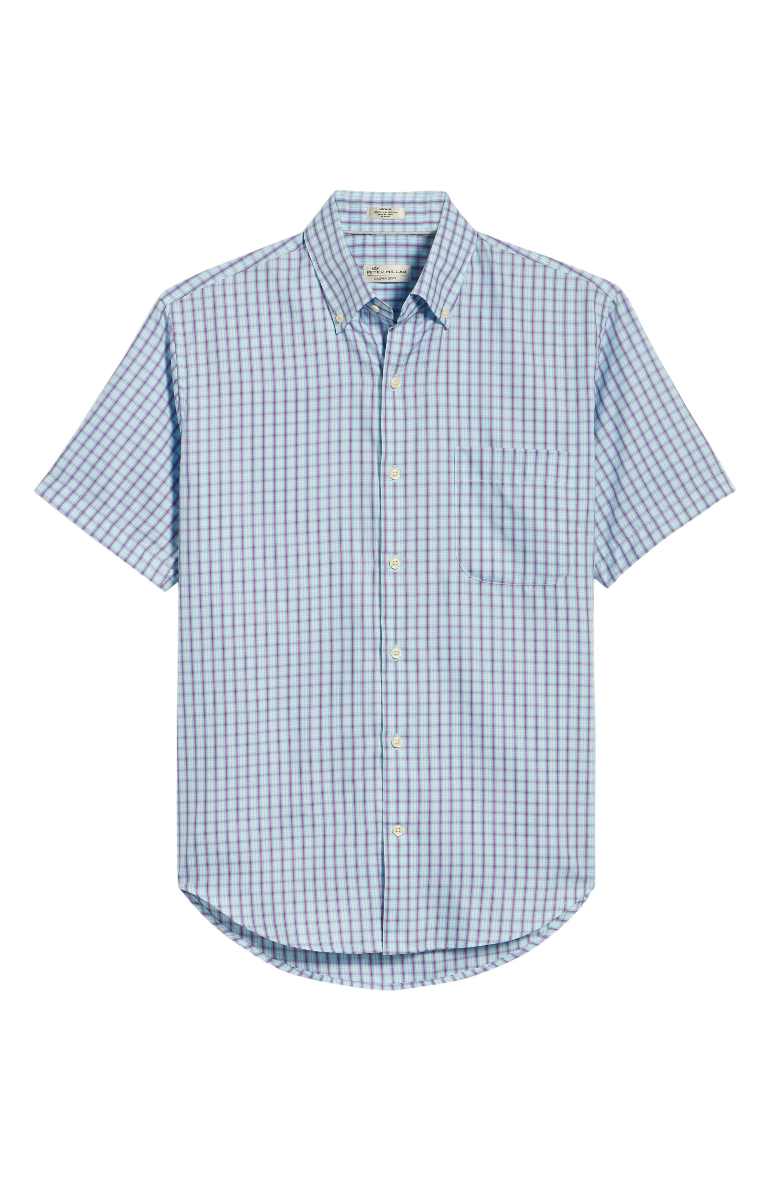Crown Soft Carlsplaid Regular Fit Sport Shirt,                             Alternate thumbnail 6, color,                             URCHIN
