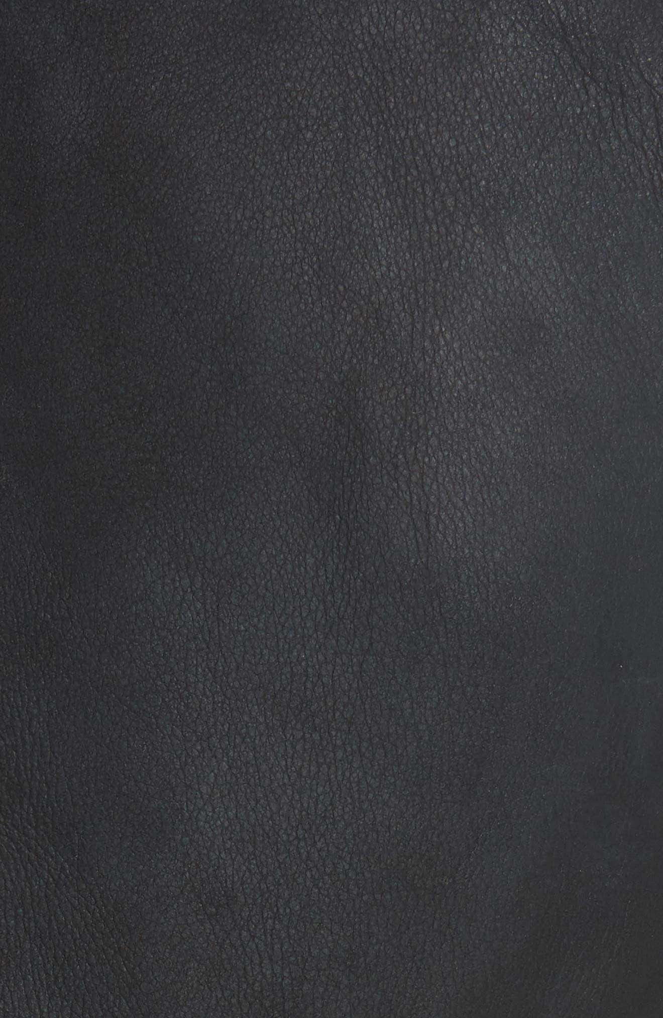 Genuine Toscana Shearling Vest,                             Alternate thumbnail 6, color,                             BLACK