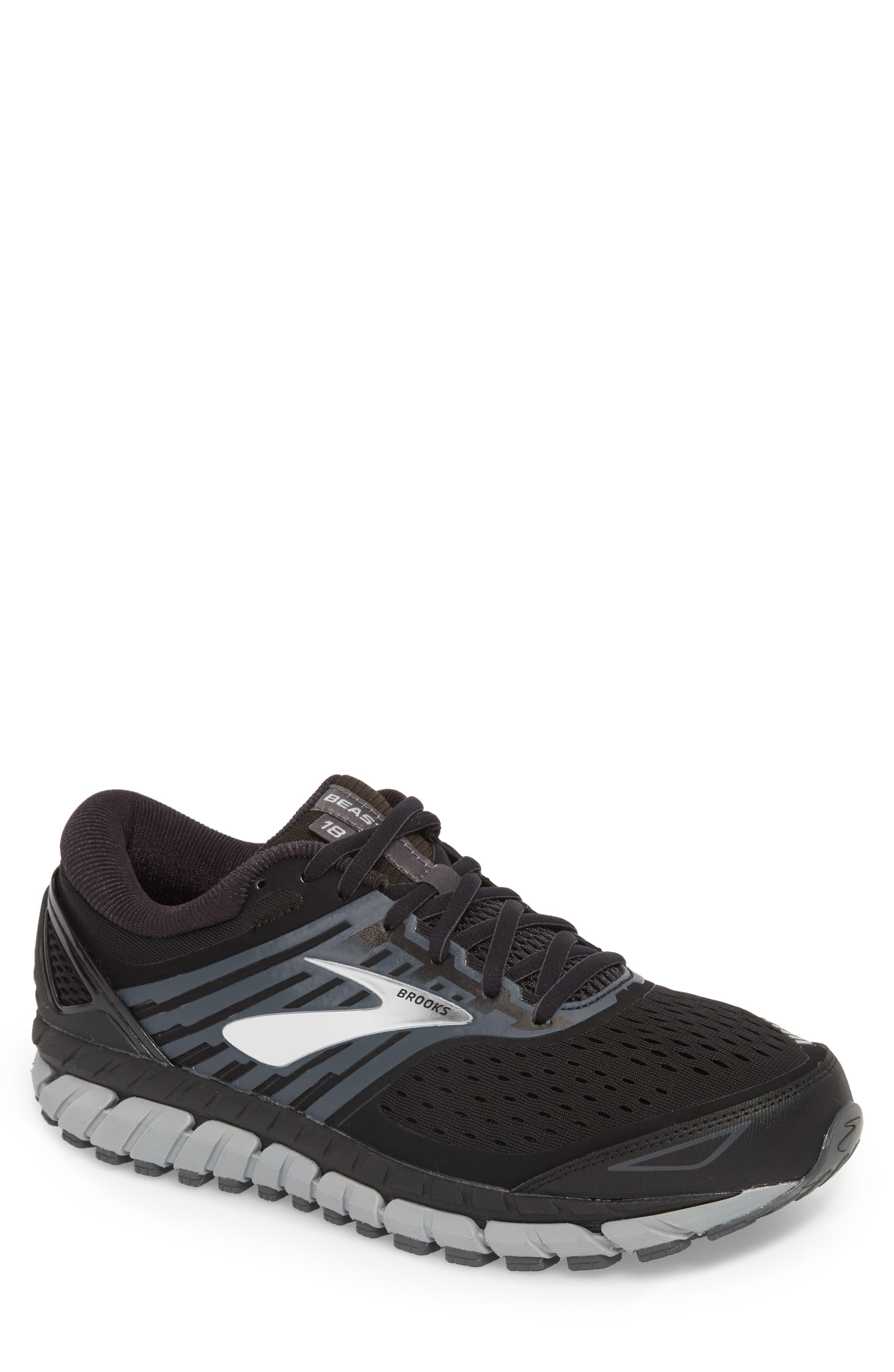 Beast '18 Running Shoe,                             Main thumbnail 1, color,                             BLACK/ GREY/ SILVER