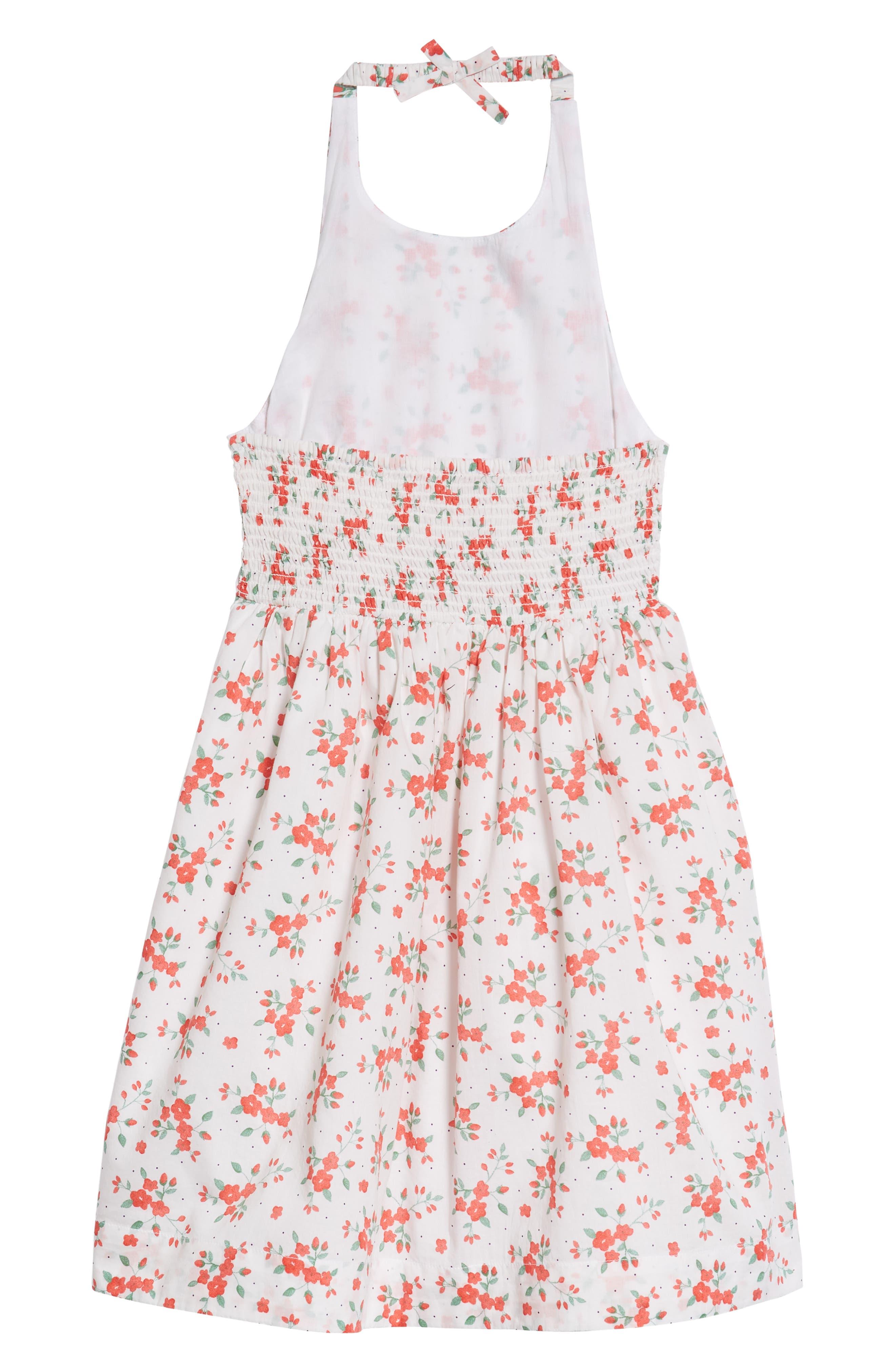 Floral Halter Dress,                             Alternate thumbnail 2, color,                             100