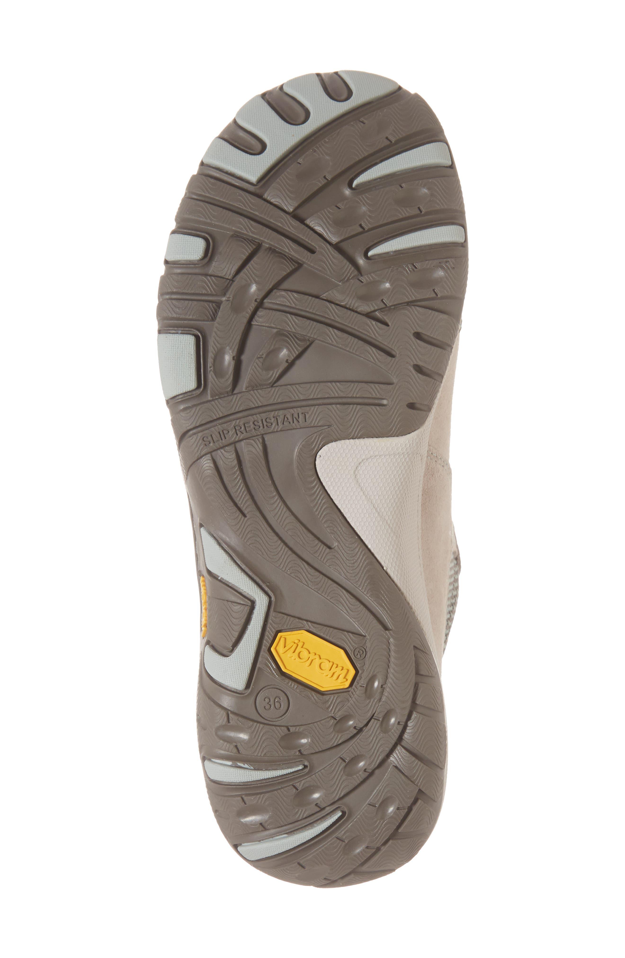 Paisley Waterproof Sneaker,                             Alternate thumbnail 6, color,                             STONE SUEDE