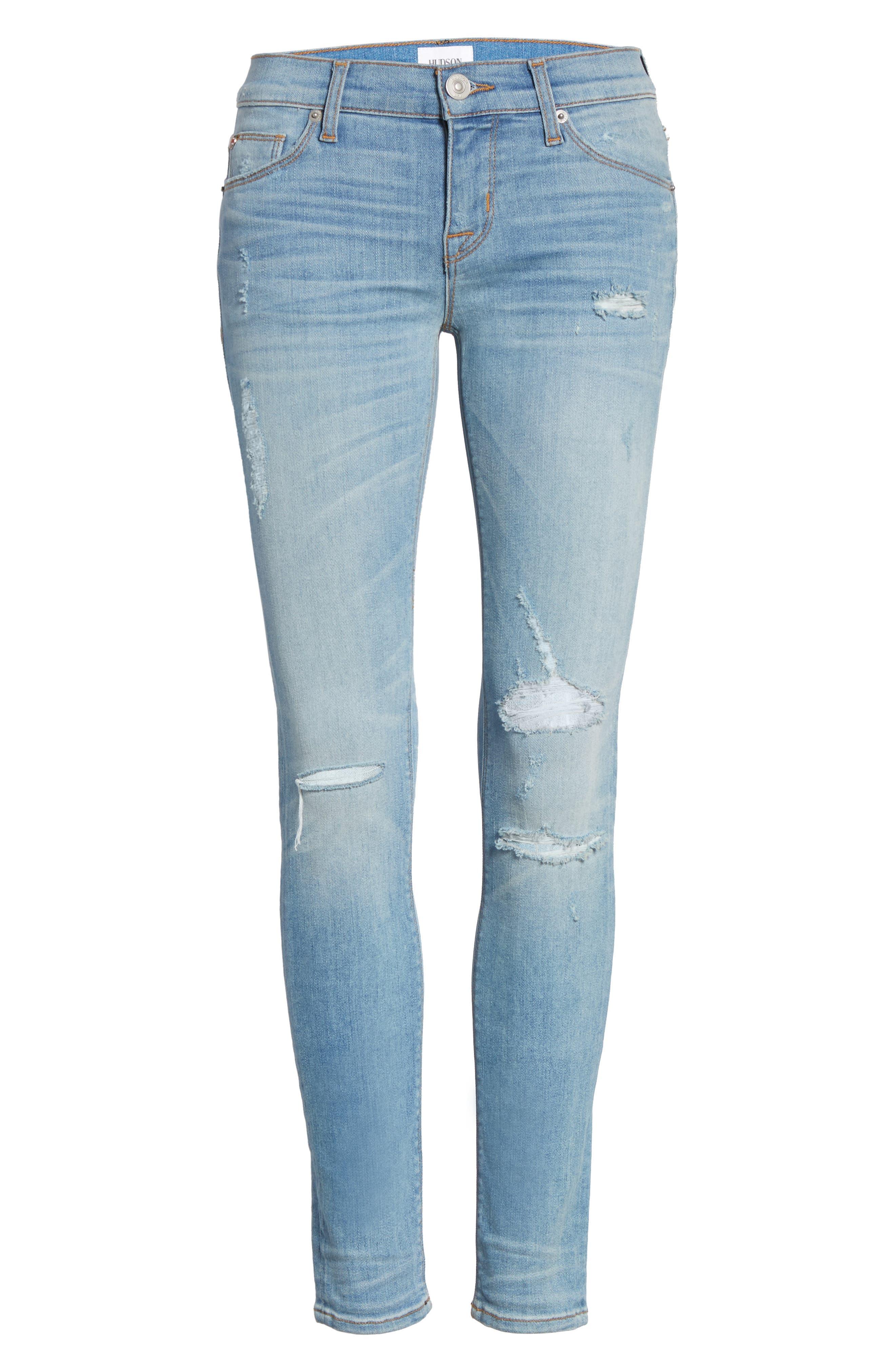 Krista Ankle Super Skinny Jeans,                             Alternate thumbnail 13, color,