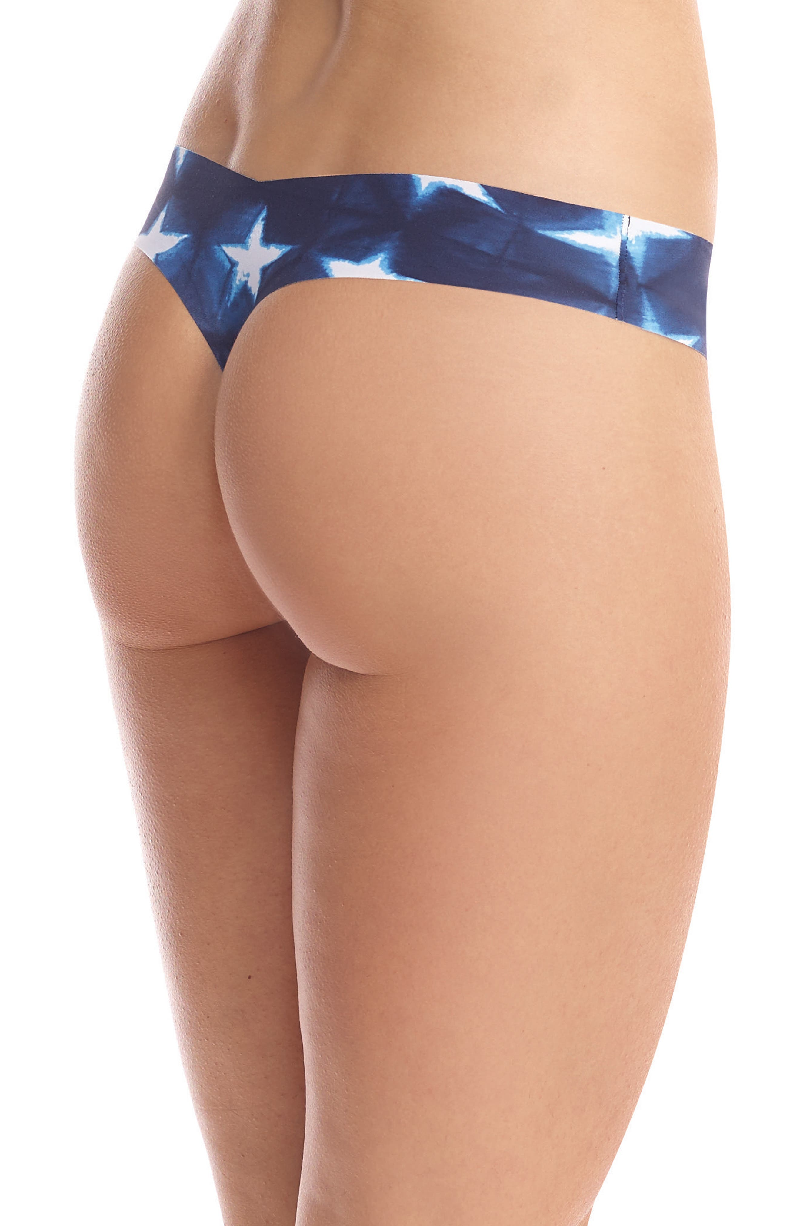 Print Microfiber Thong,                             Alternate thumbnail 108, color,