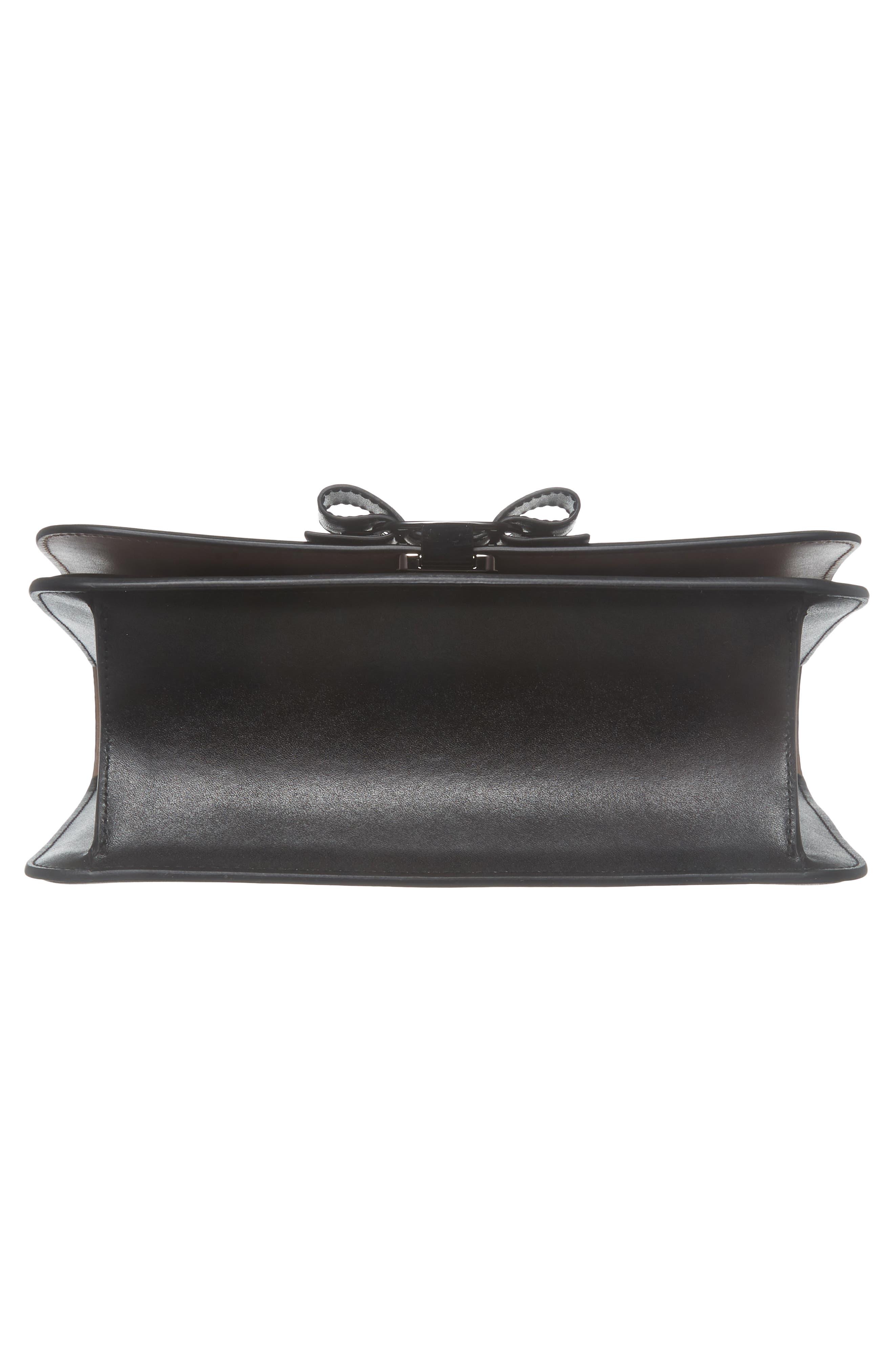 Vara Leather Crossbody Bag,                             Alternate thumbnail 6, color,                             NERO