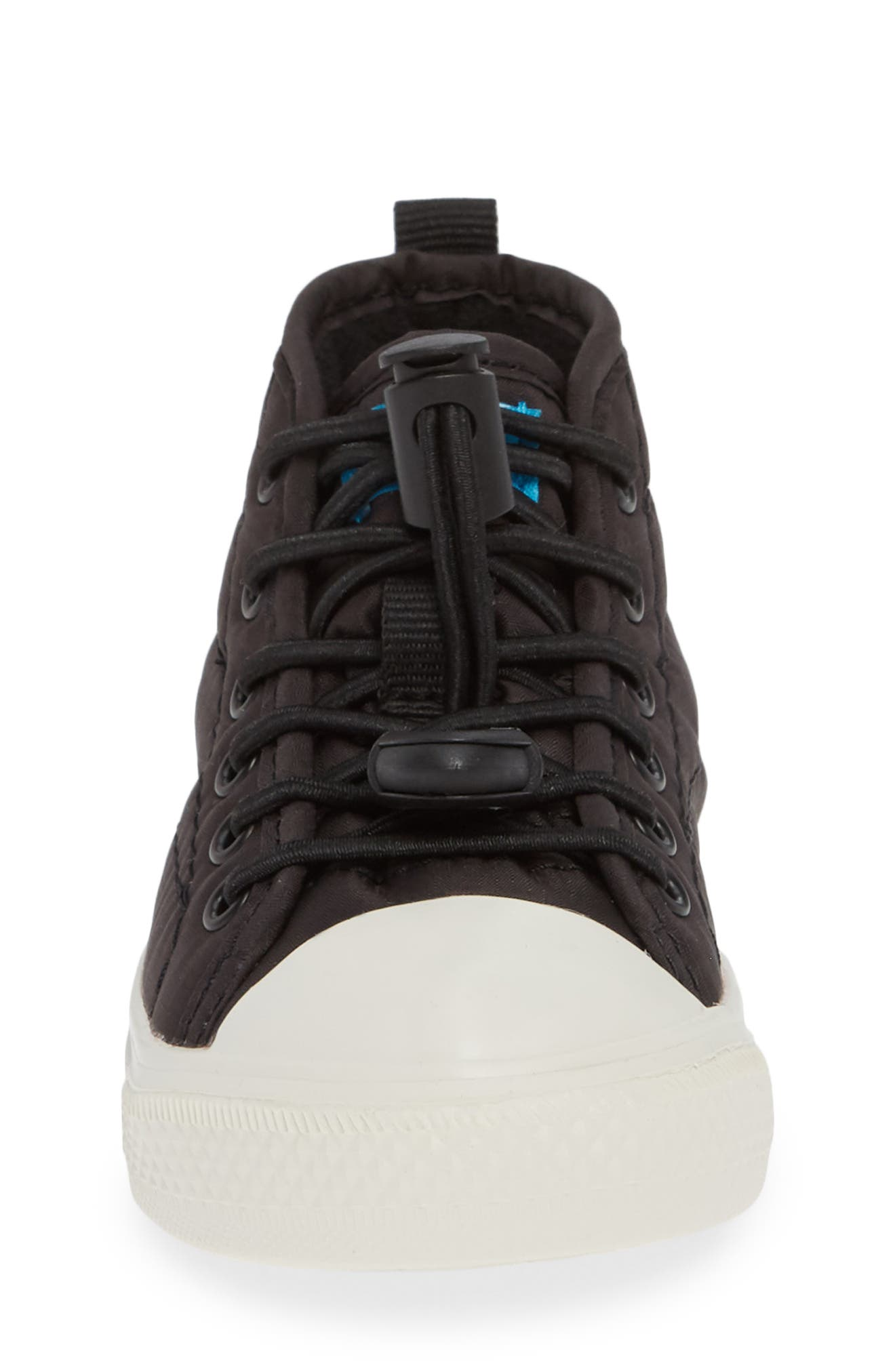 The Phillips Puffy Sneaker,                             Alternate thumbnail 4, color,                             REALLY BLACK/PICKET WHITE