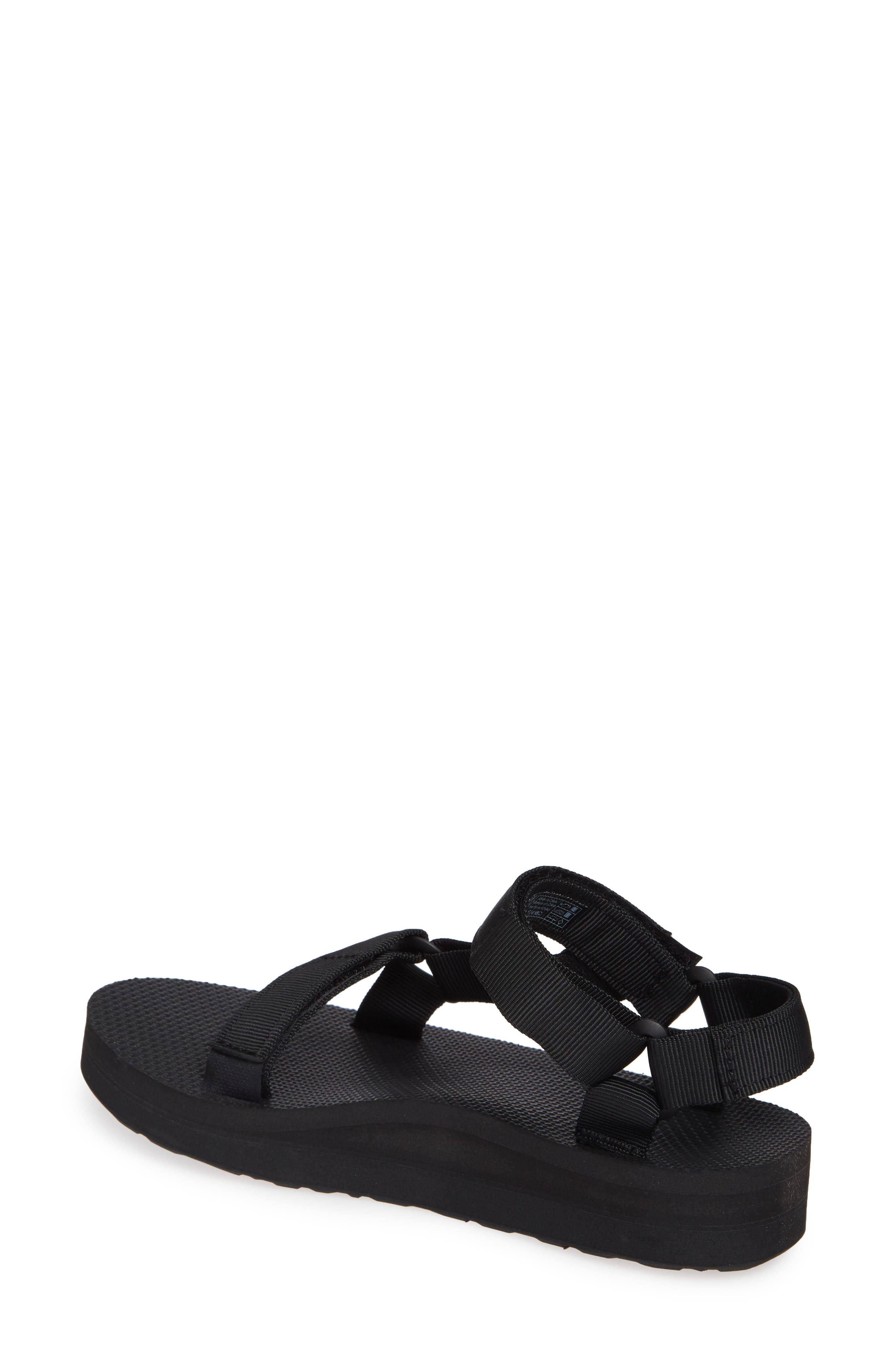 Midform Universal Geometric Sandal,                             Alternate thumbnail 2, color,                             BLACK FABRIC