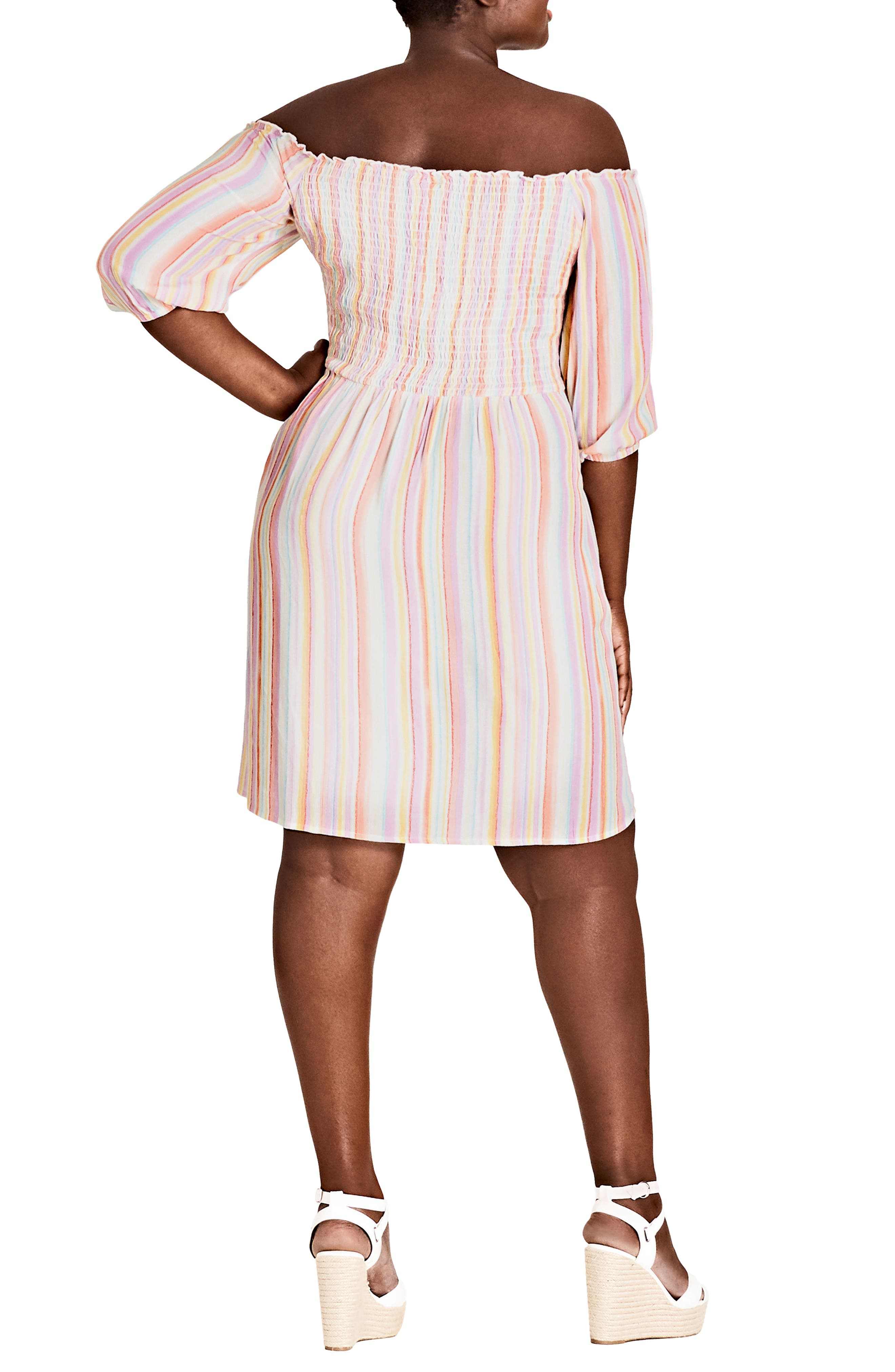 Island Stripe Dress,                             Alternate thumbnail 2, color,                             ISLAND STRIPE