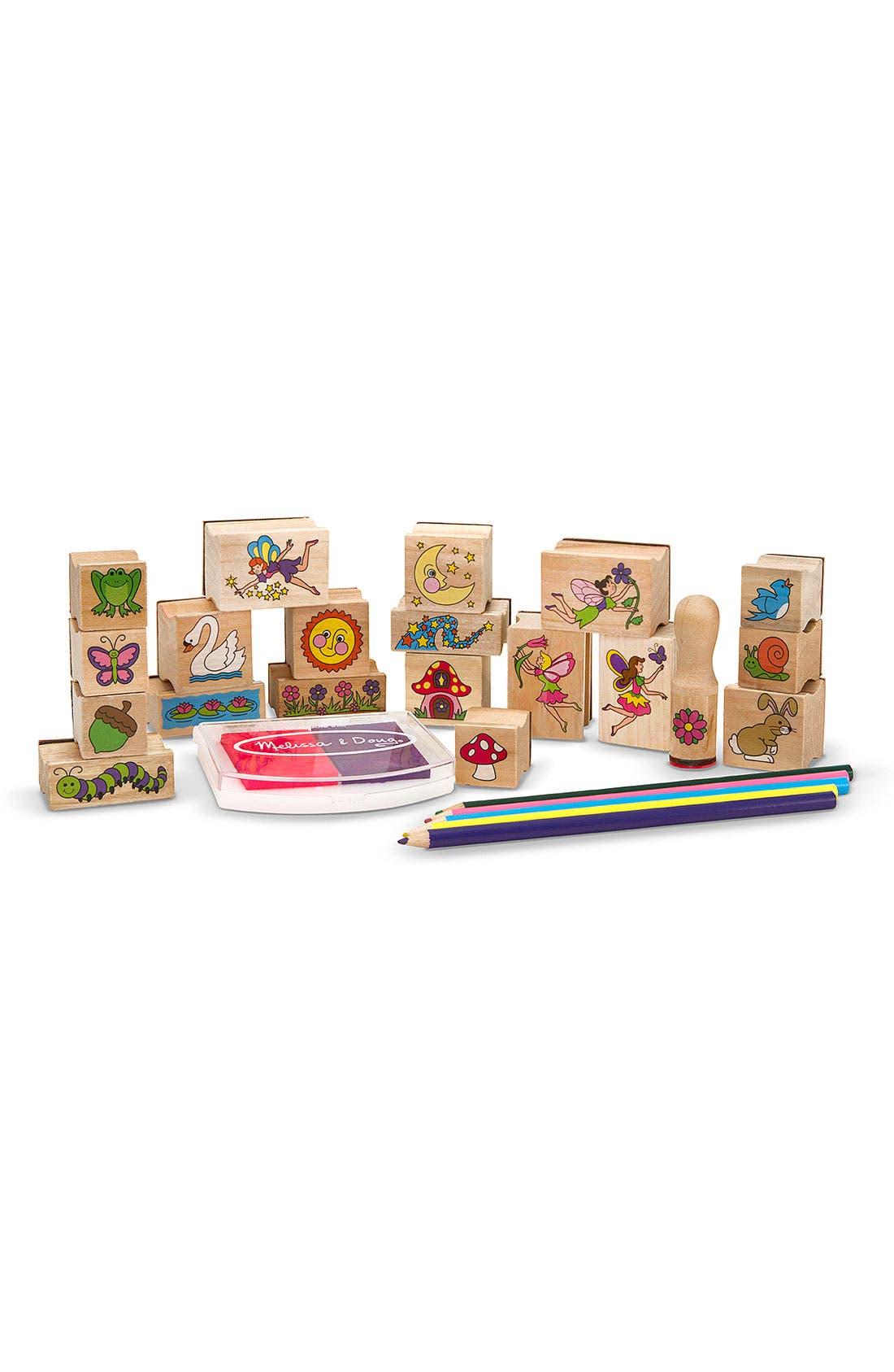 'Stamp-A-Scene - Fairy Garden' Stamp Set,                             Alternate thumbnail 2, color,                             BROWN
