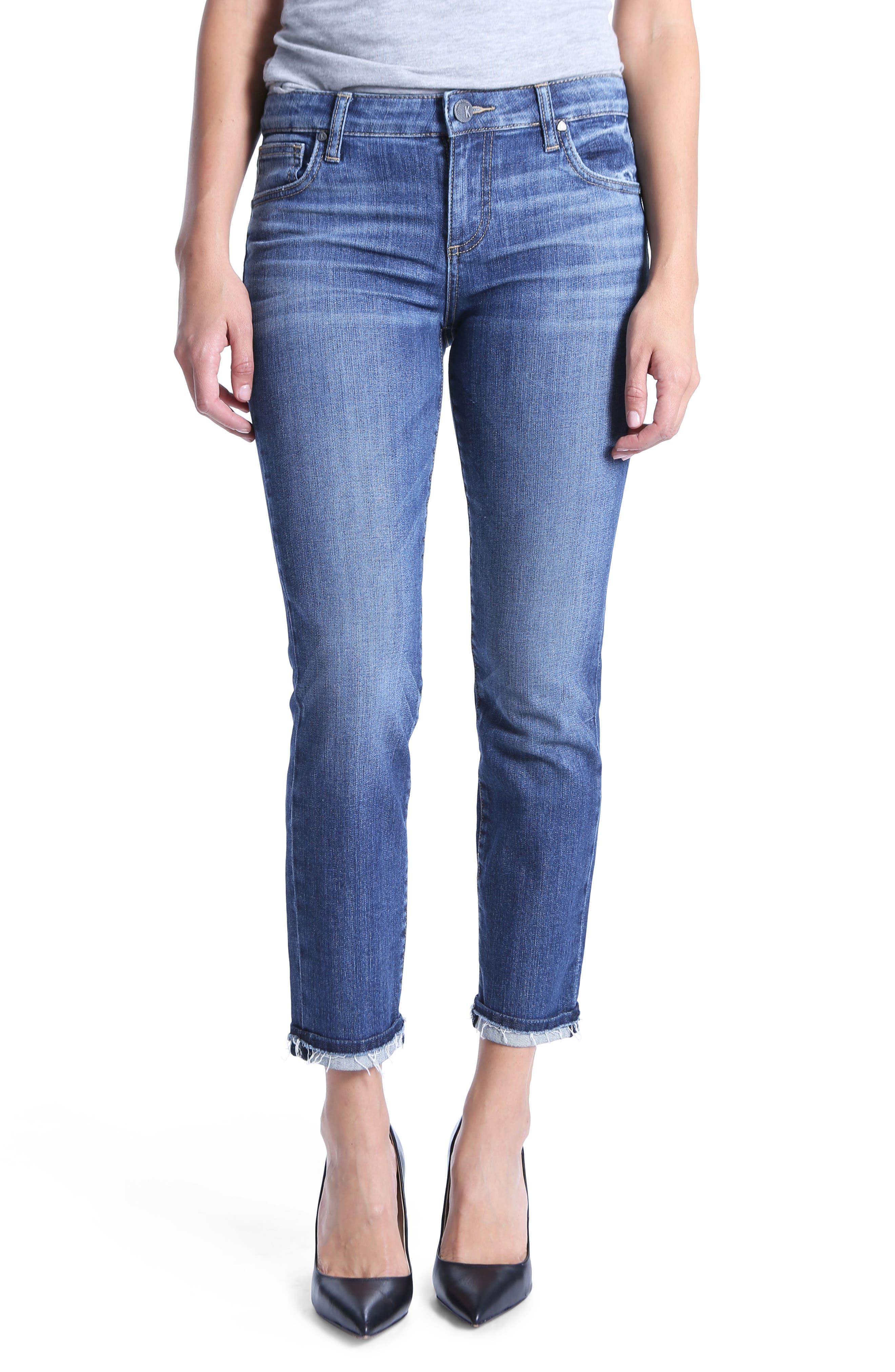 Kut From The Kloth Uma Boyfriend Jeans, Blue