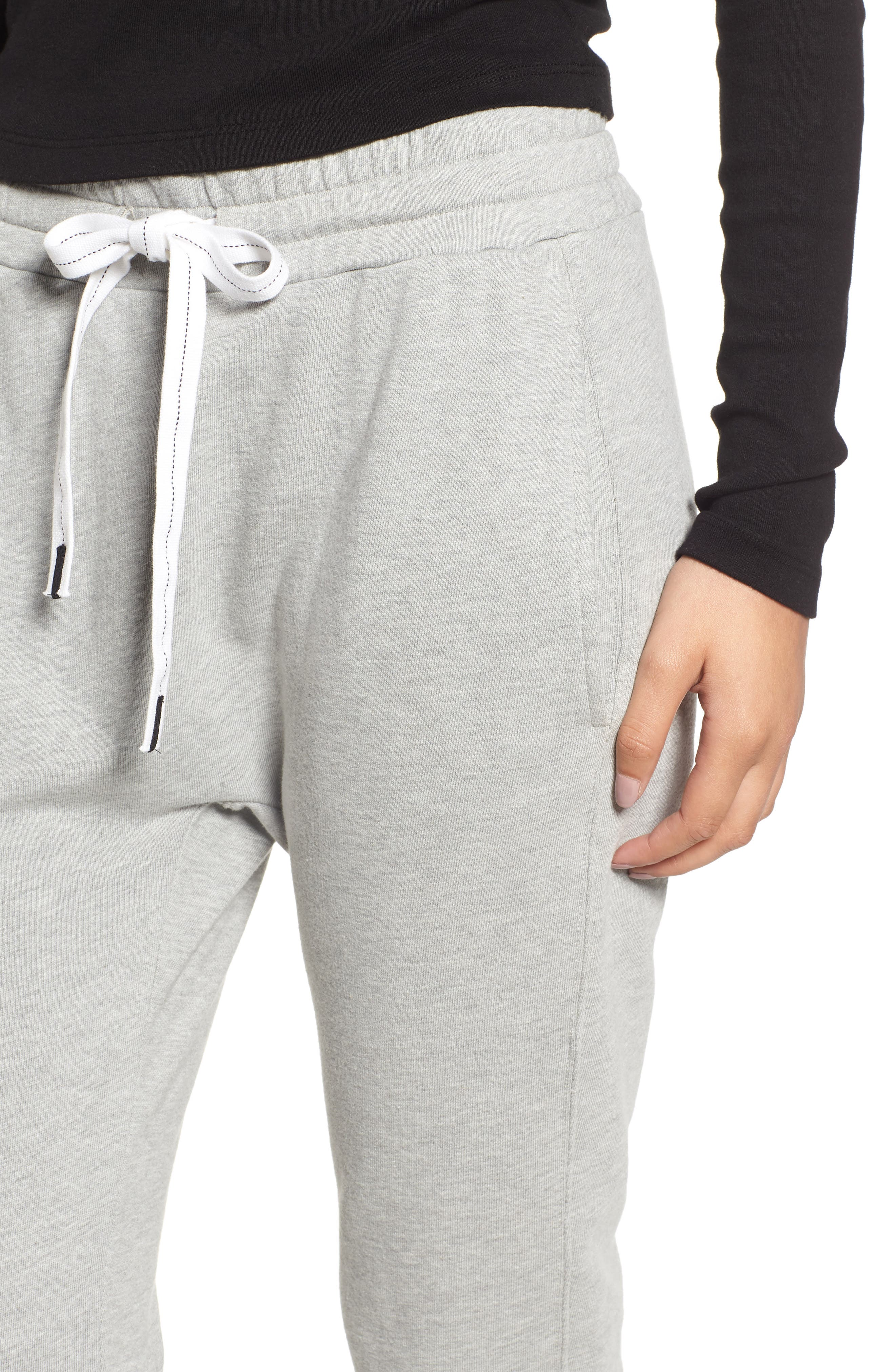 French Terry Joggers,                             Alternate thumbnail 4, color,                             HEATHER GREY