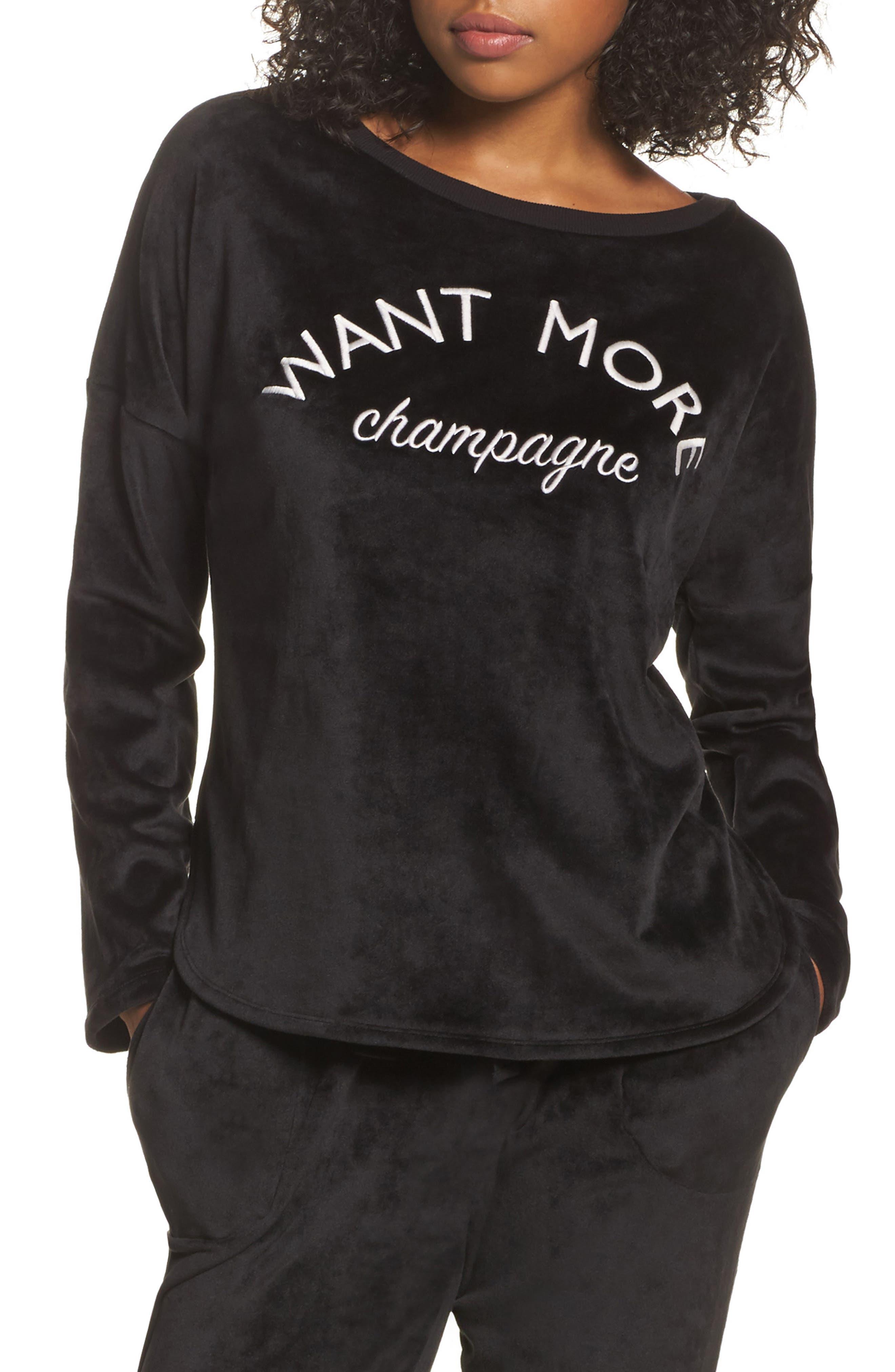 Luxury Plush Sweatshirt,                             Main thumbnail 1, color,                             001