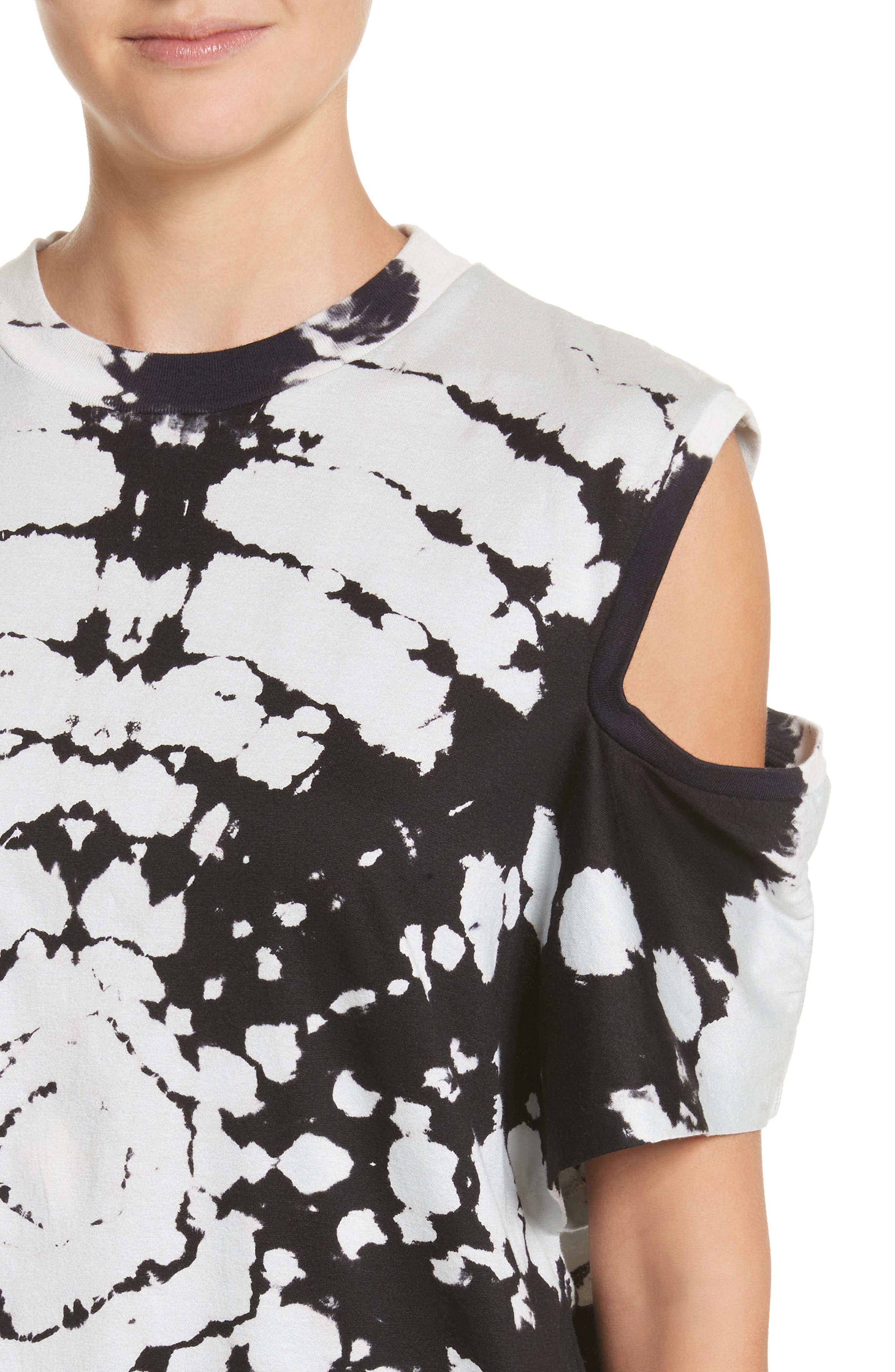 Tie Dye Cold Shoulder Top,                             Alternate thumbnail 4, color,
