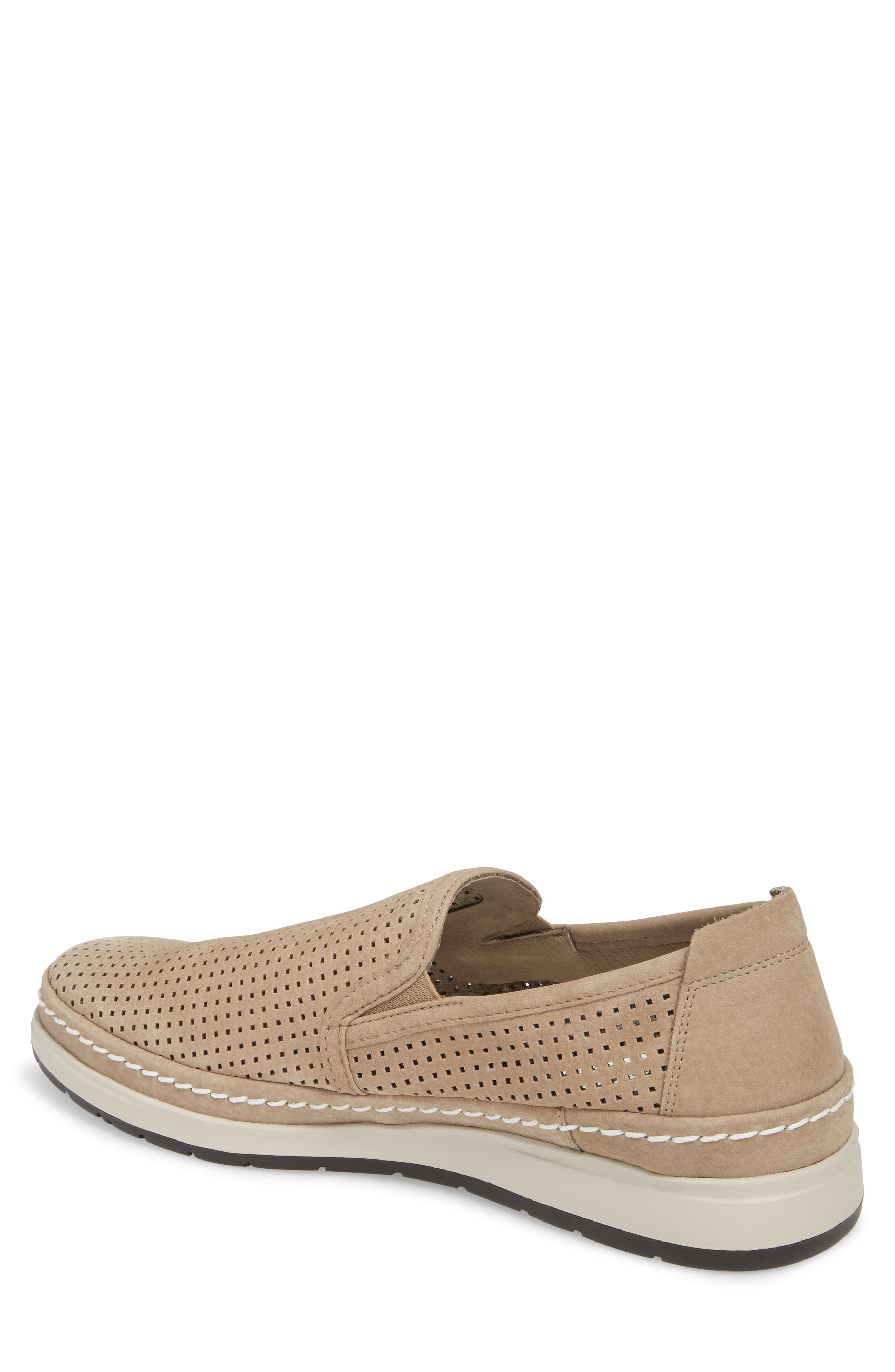 Hadrian Perforated Slip-On,                             Alternate thumbnail 2, color,                             SAND