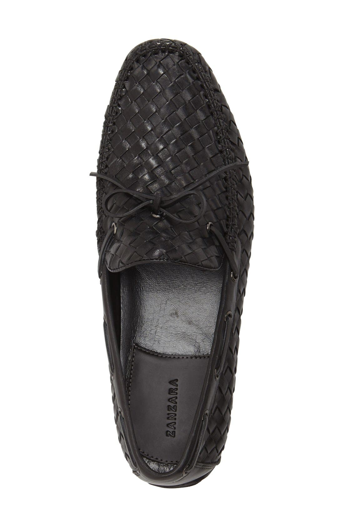 Leather Loafer,                             Alternate thumbnail 4, color,                             002