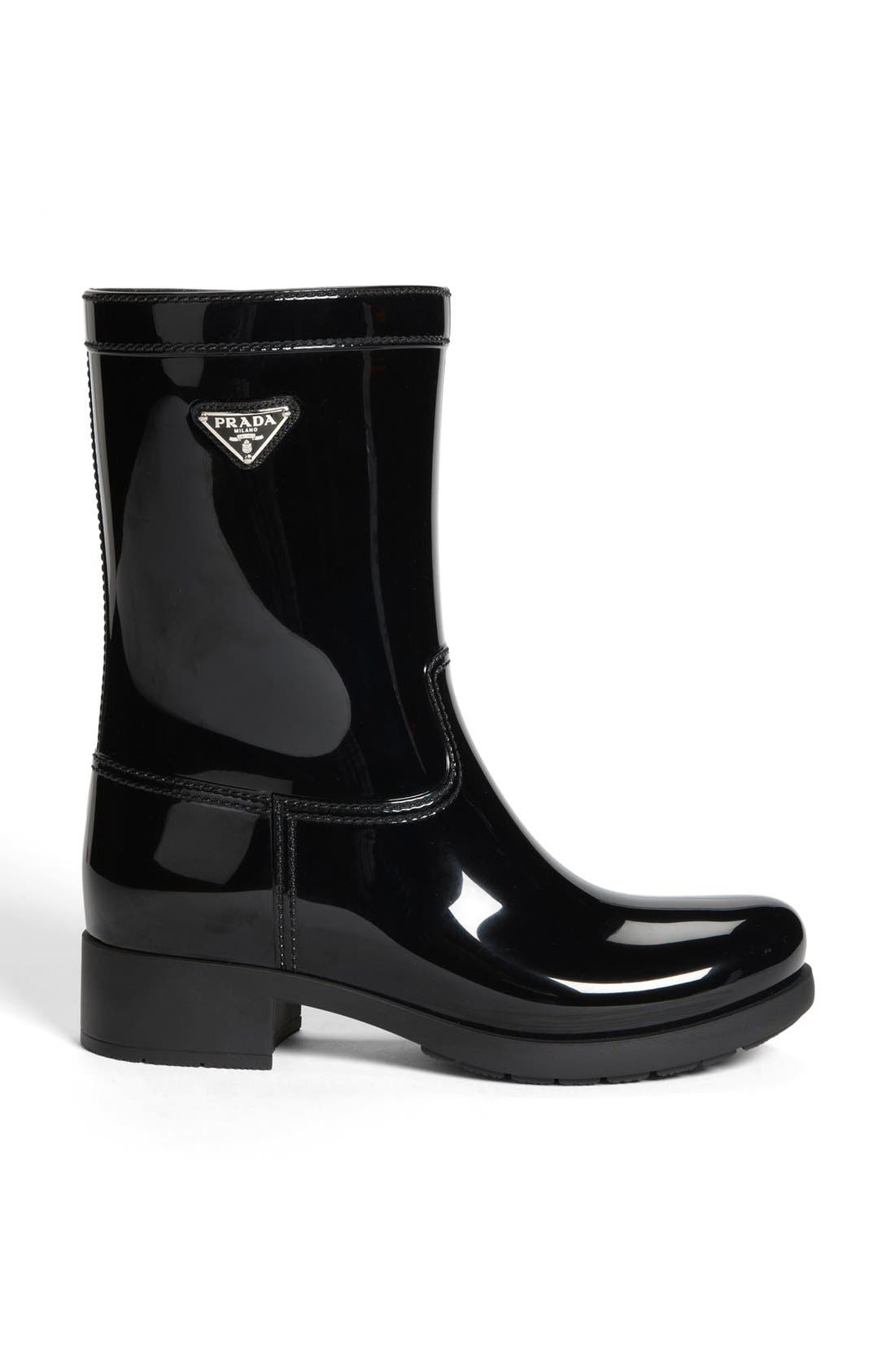 Rubber Rain Boot,                             Alternate thumbnail 3, color,                             002