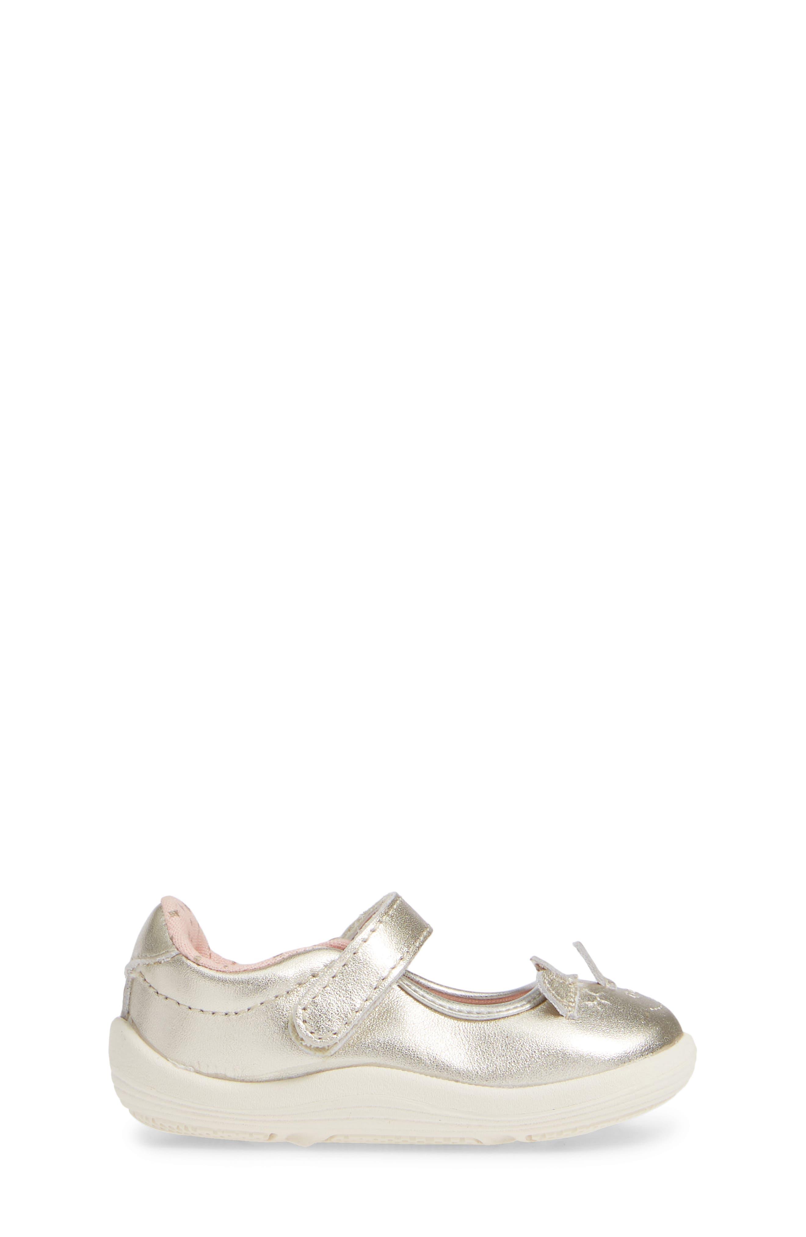 Clara Metallic Shoe,                             Alternate thumbnail 3, color,                             GOLD LEATHER